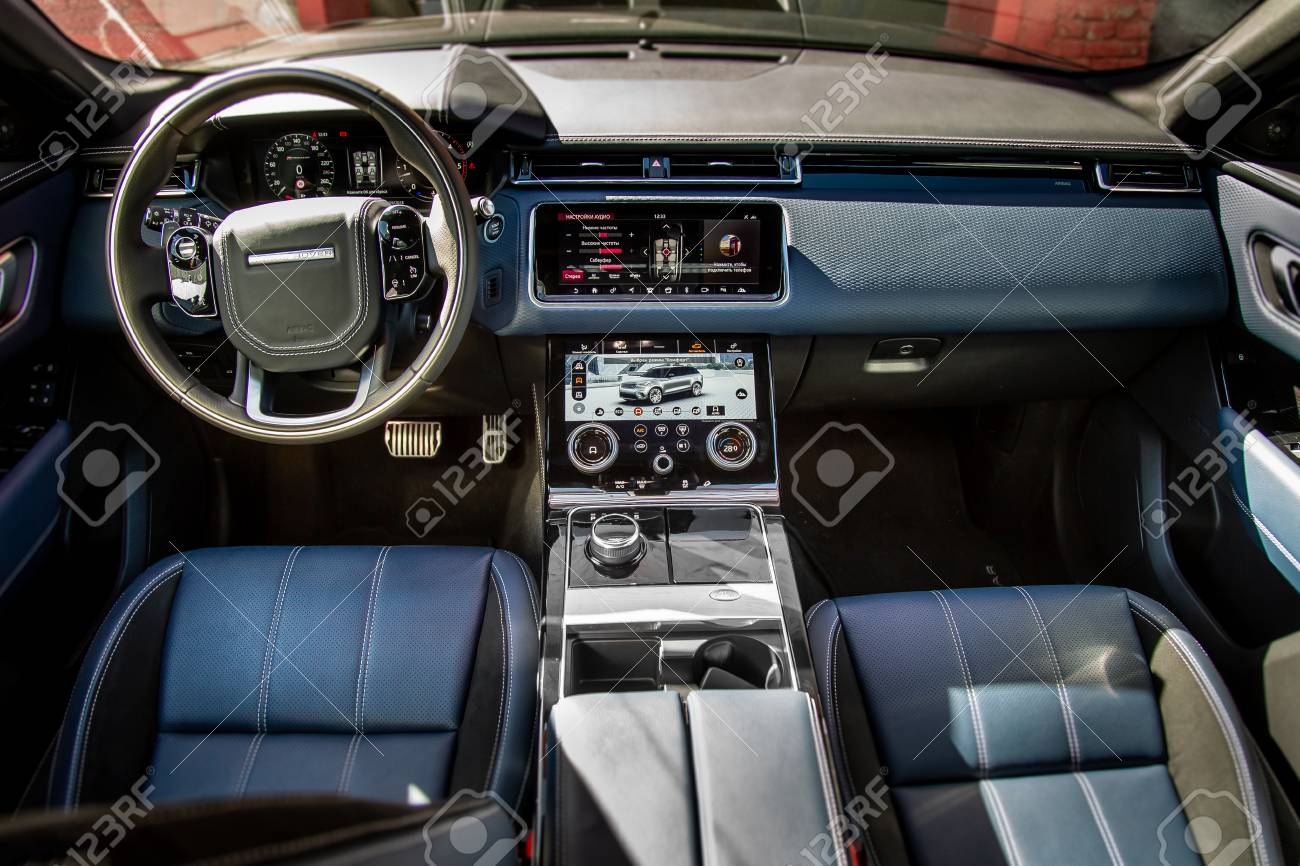 Range Rover Interior >> Moscow Autumn 2018 Interior Of The Land Rover Range Rover Velar
