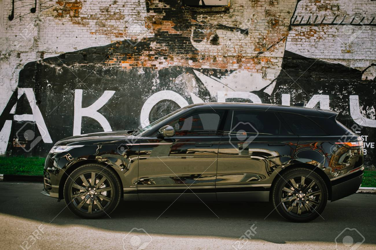 Moscow Autumn 2018 The Land Rover Range Rover Velar In Black Stock Photo Picture And Royalty Free Image Image 114234402