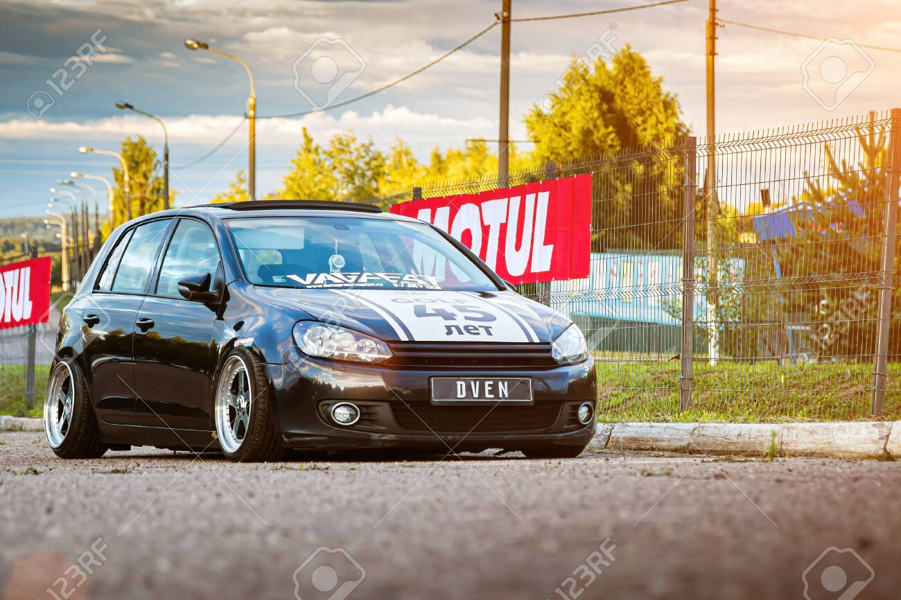 Moscow Russia July 06 2019 Black Tuned And Modified Volkswagen Stock Photo Picture And Royalty Free Image Image 146144398