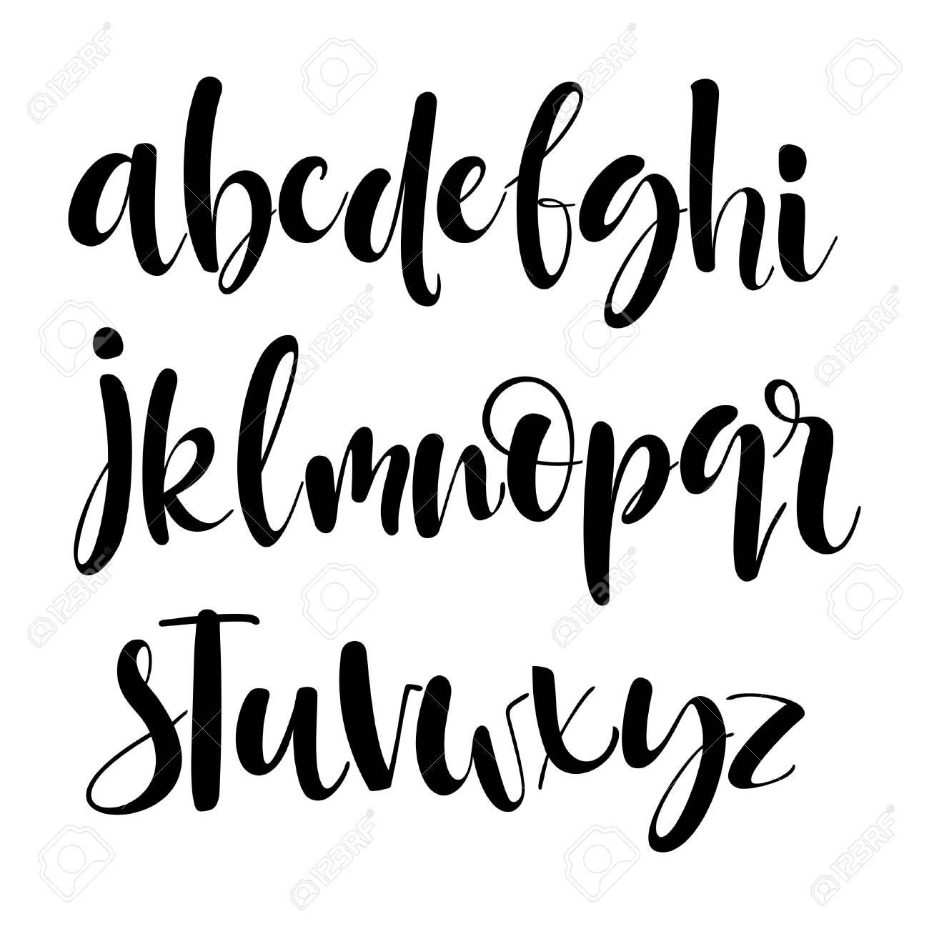 Kit Decorativo Vector ABC Buena Tipografa Para Su Diseo Dibujado A Mano Letras Y