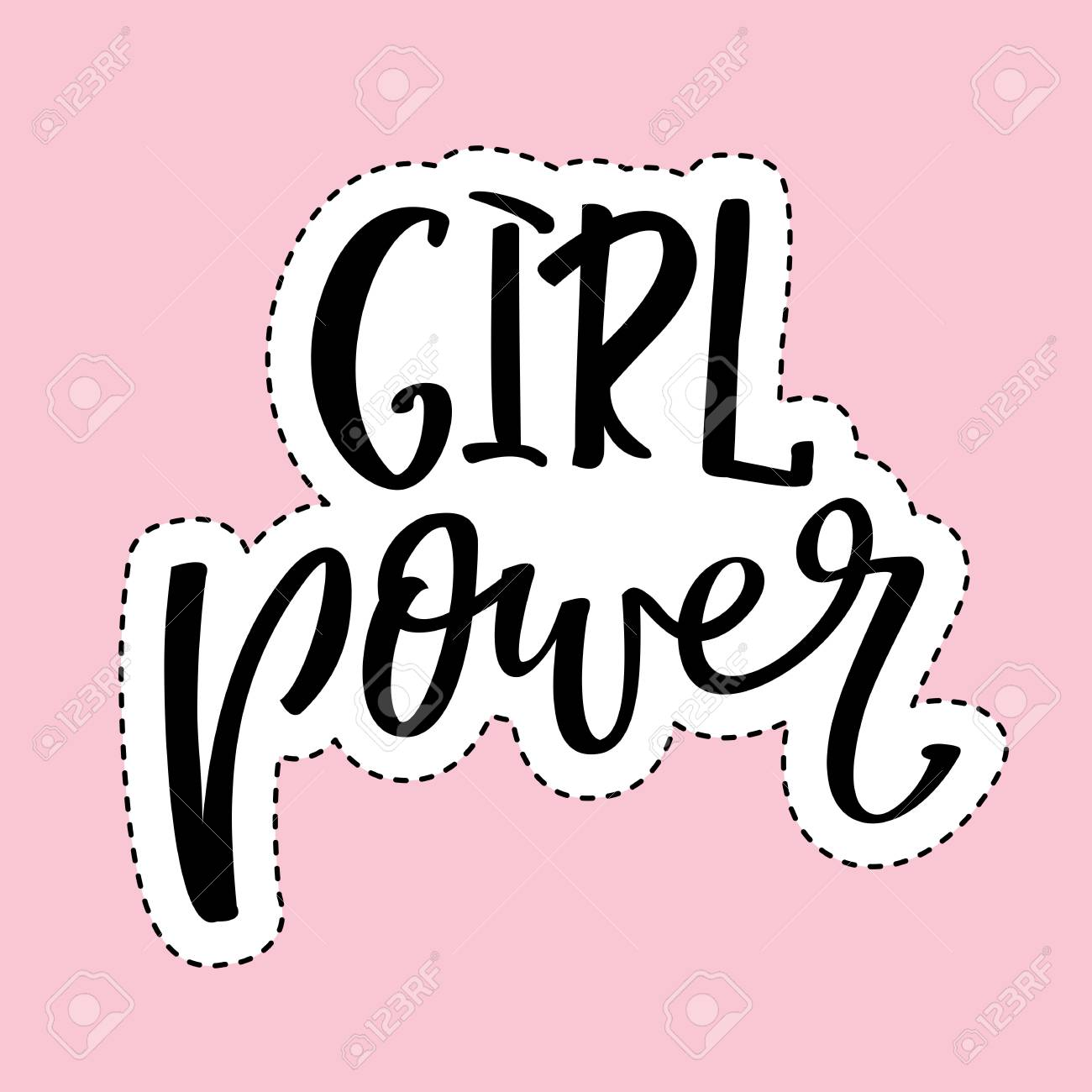 girl power inspirational quote feminism quote hand lettering