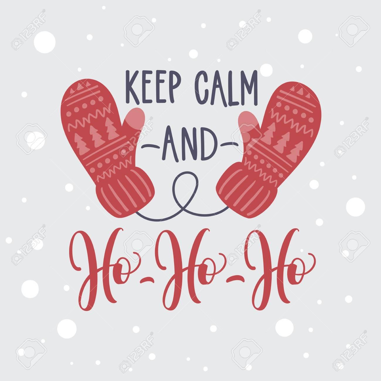 Christmas Card. Keep Calm And Ho Ho Ho. Royalty Free Cliparts ...