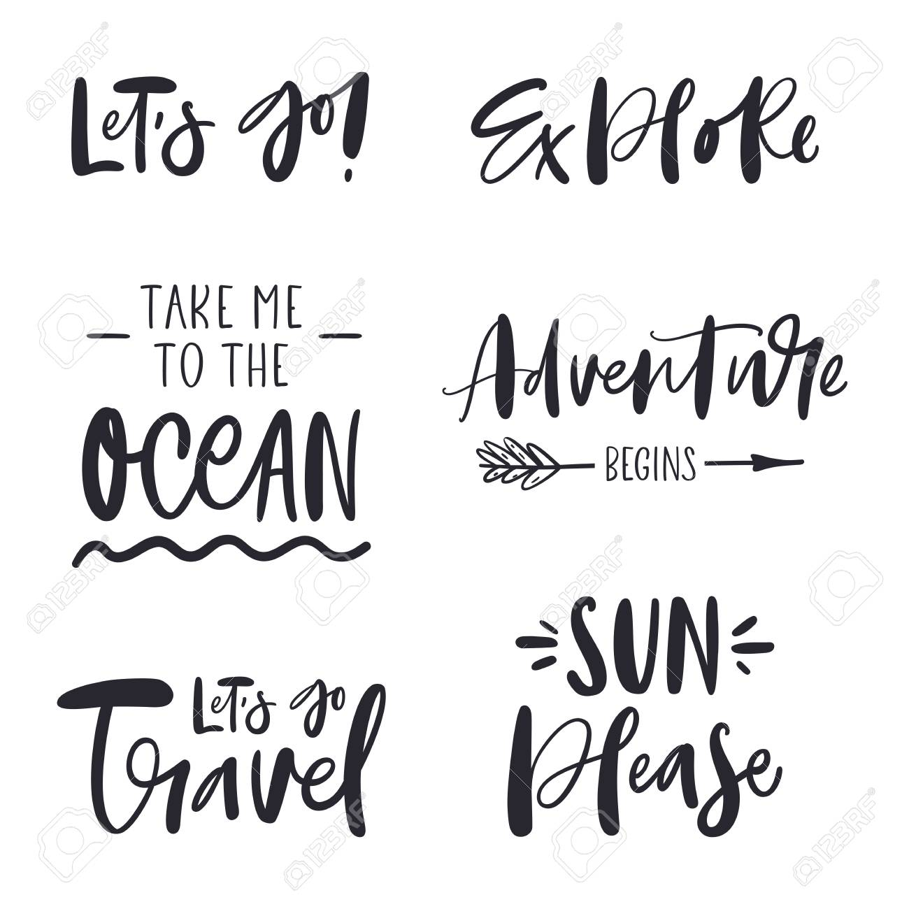 Set of inspirational phrases about travel - 120881809