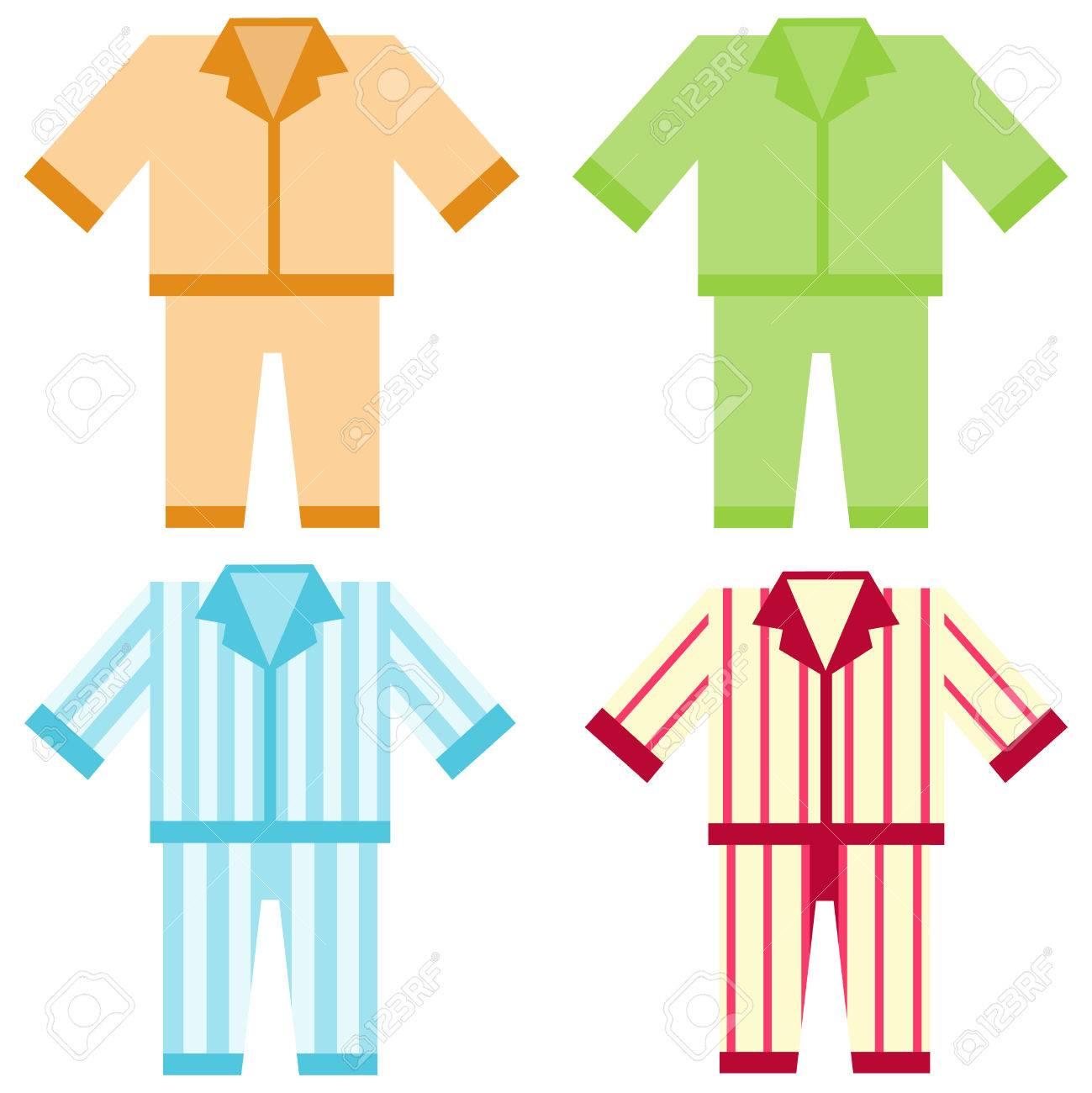 Icon pajamas. Flat design, vector illustration, vector. - 73043956