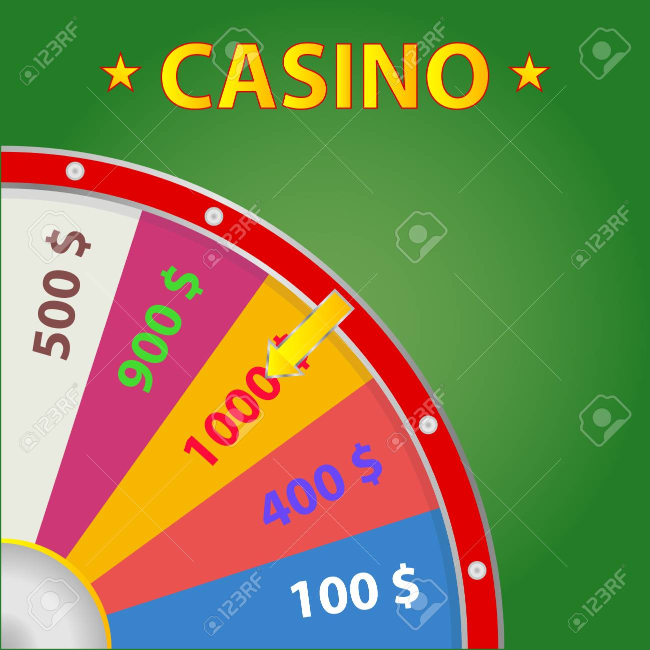 Casino Wheel of Fortune Flat design vector illustration - 80115854