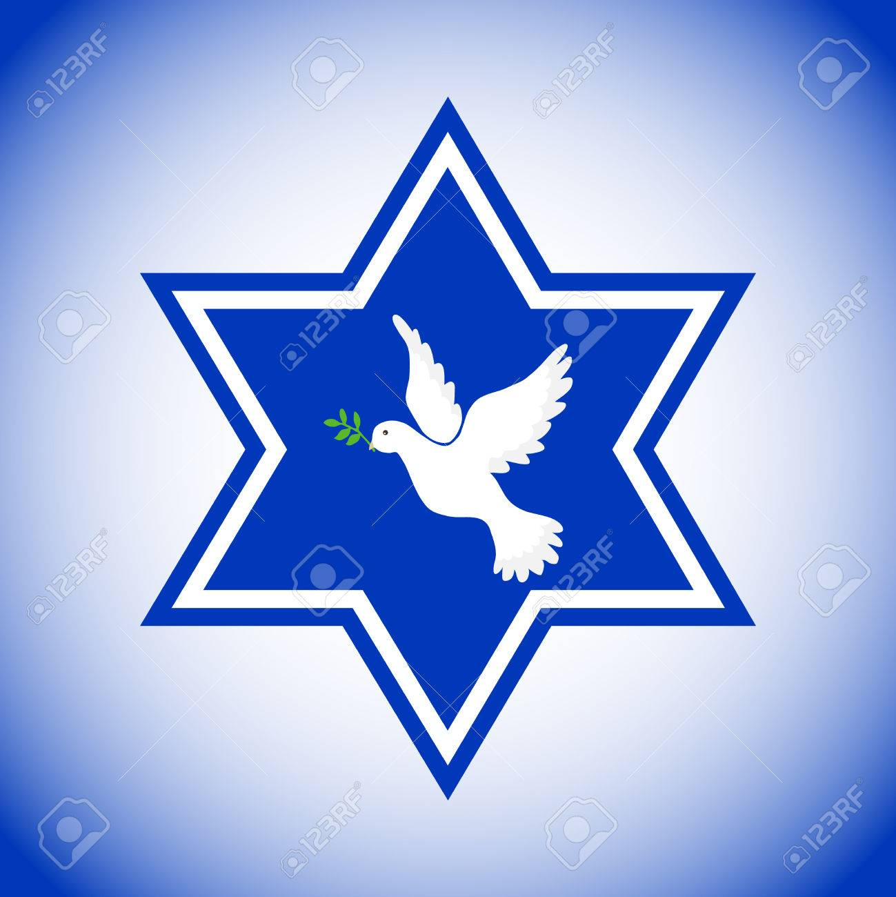 Star Of David With The Dove Of Peace The Symbol Of Israel Pigeon