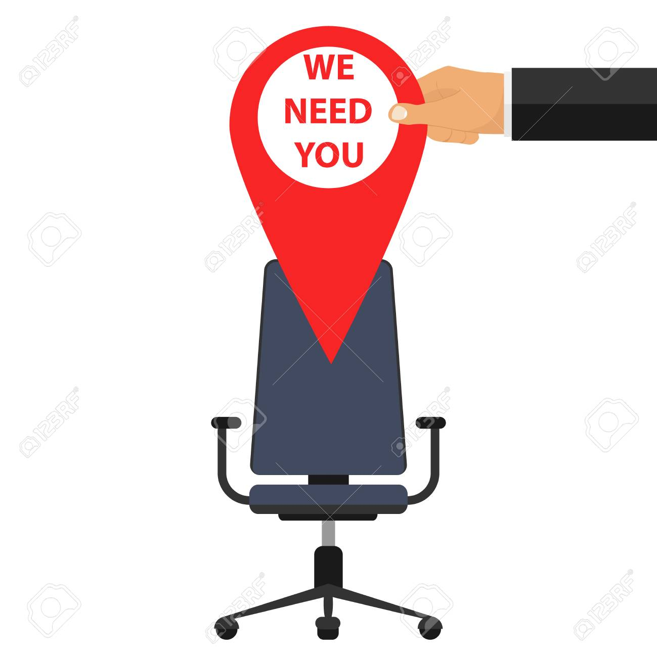 The place is vacant, the banner you need us, free vacancy. - 85288761
