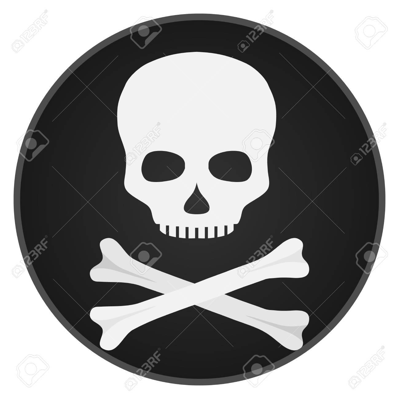 Schädel Mit Knochen. Schädel Und Knochen Auf Einem Schwarzen ...