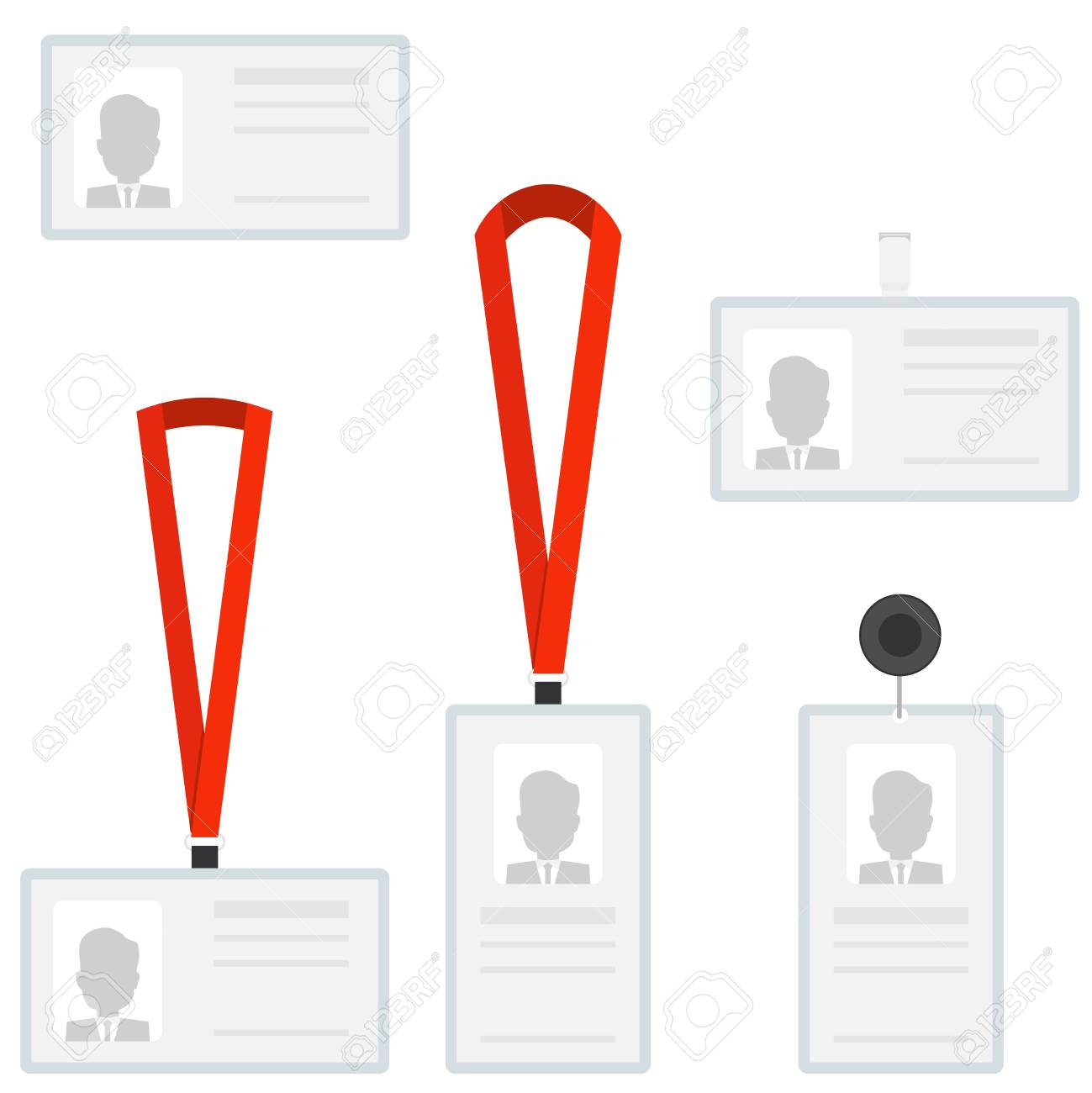 employees identification card id badges royalty free cliparts