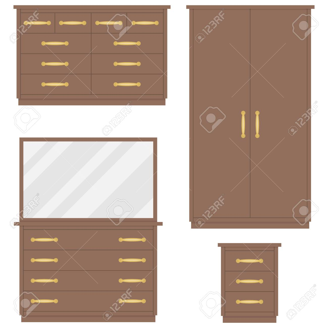 Bedroom Furniture Chest Of Drawers Wardrobe Dressing Table