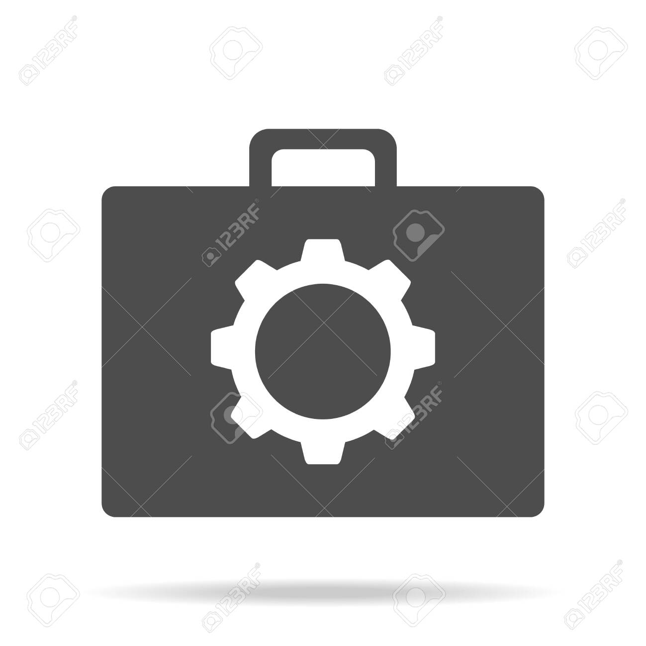 Suitcase of tools. Tools suitcase icon isolated on white background. Vector illustration. Vector. - 151138499