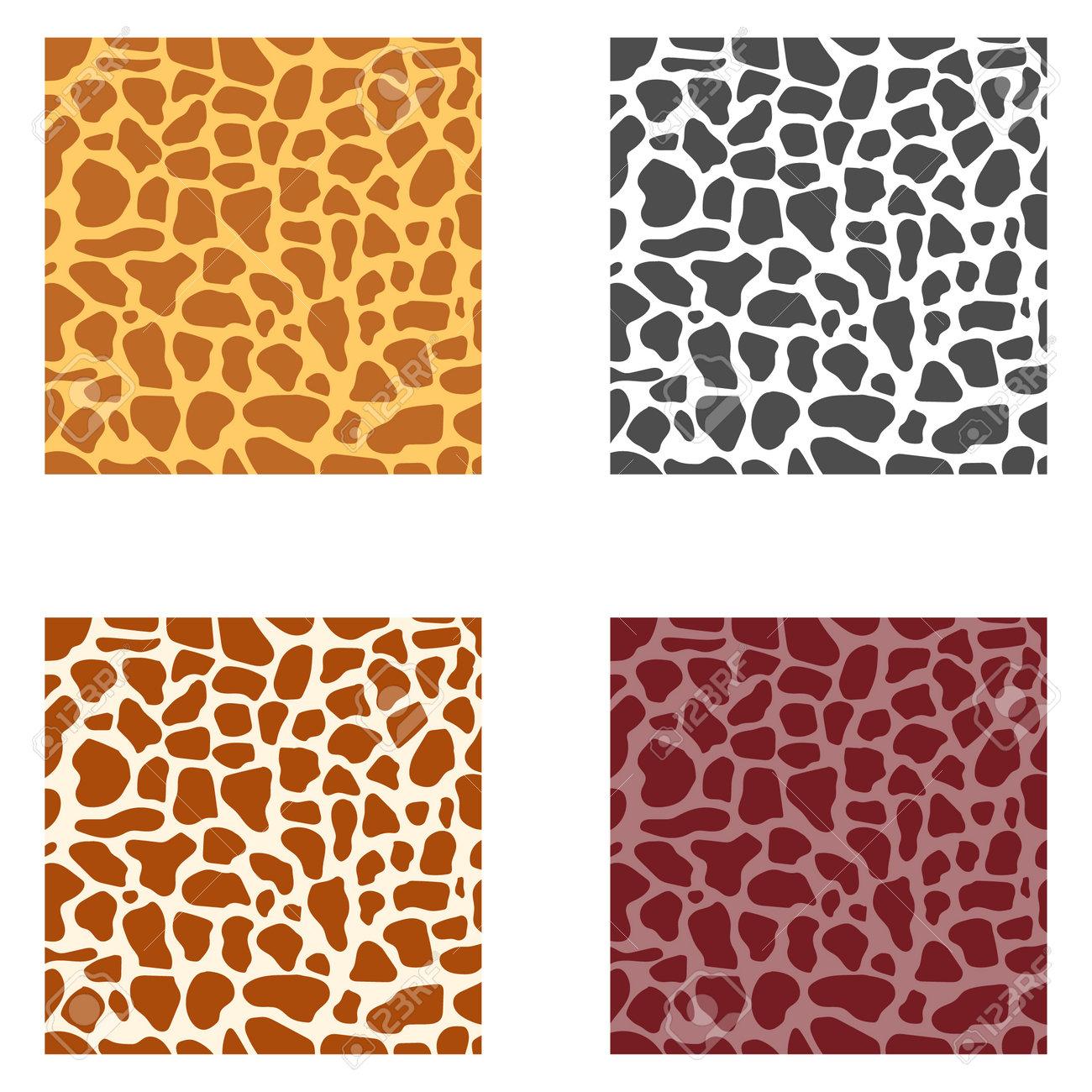 Leopard skin, giraffe. Leopard, giraffe skin texture. Vector illustration. Vector. - 162890913