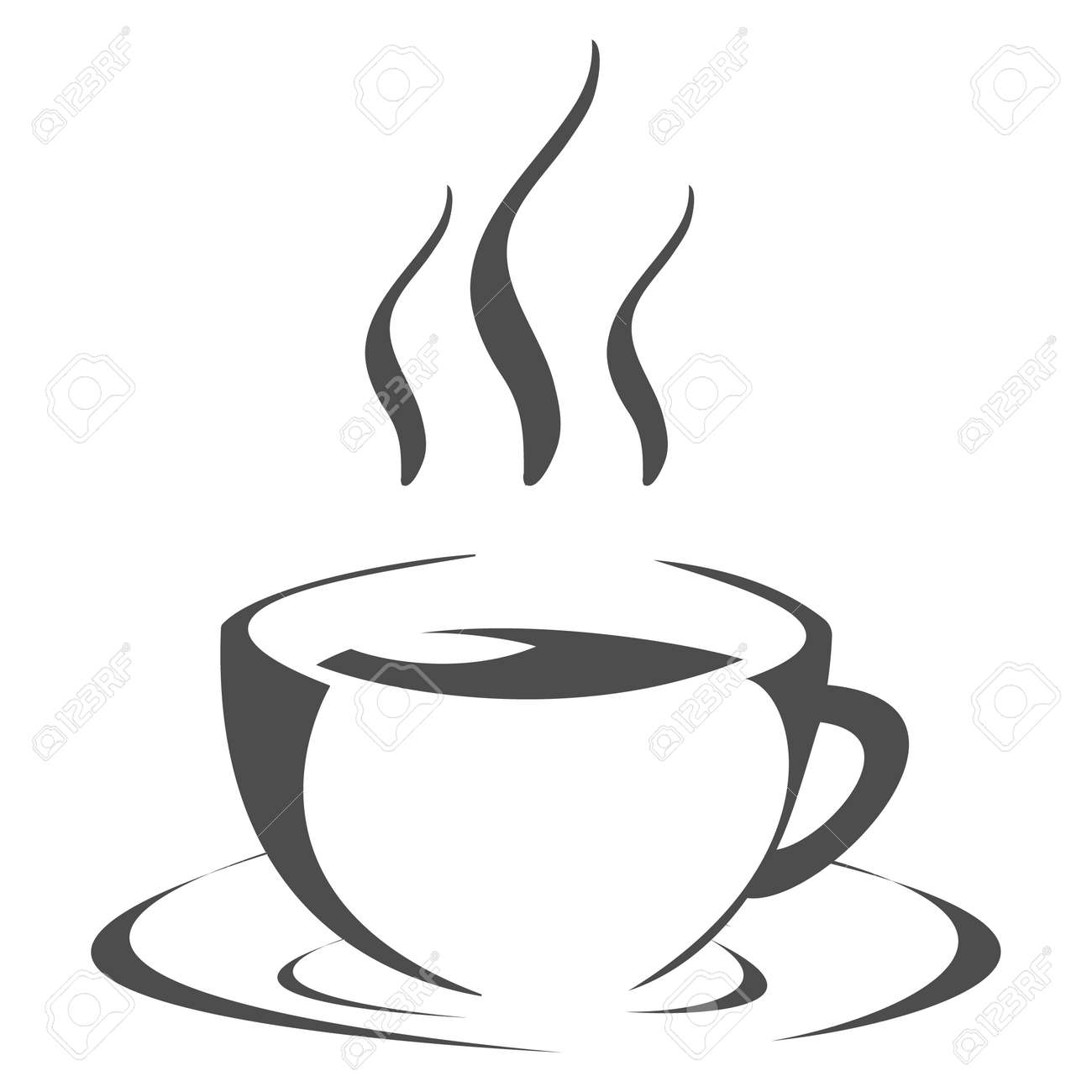 Tea cup icon, hot tea cup icon on white background. Vector illustration. Vector. - 162890967