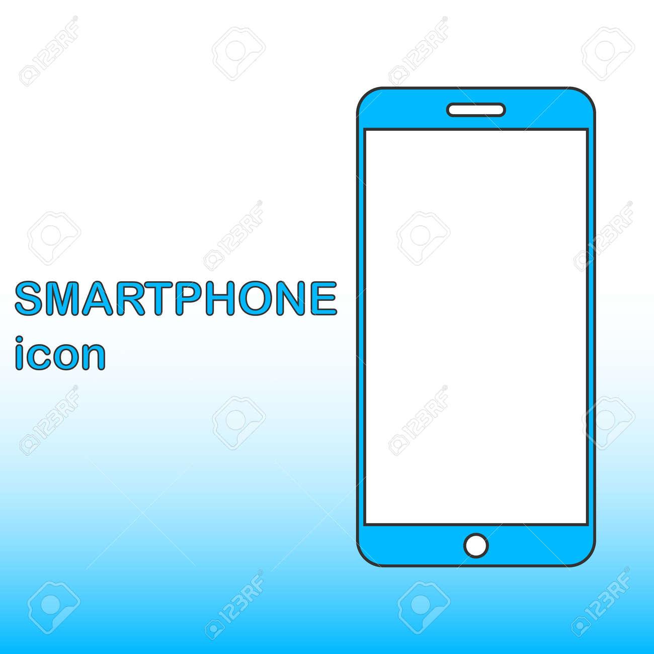 Realistic smartphone icon in flat design. Smartphone designer icon. Vector illustration. Vector. - 167578903