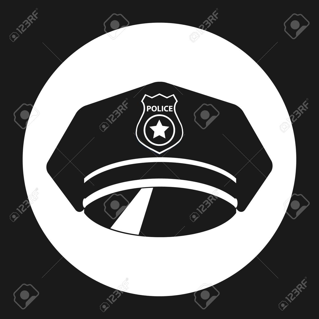 Police cap. Police cap icon. Vector illustration Vector - 167579102