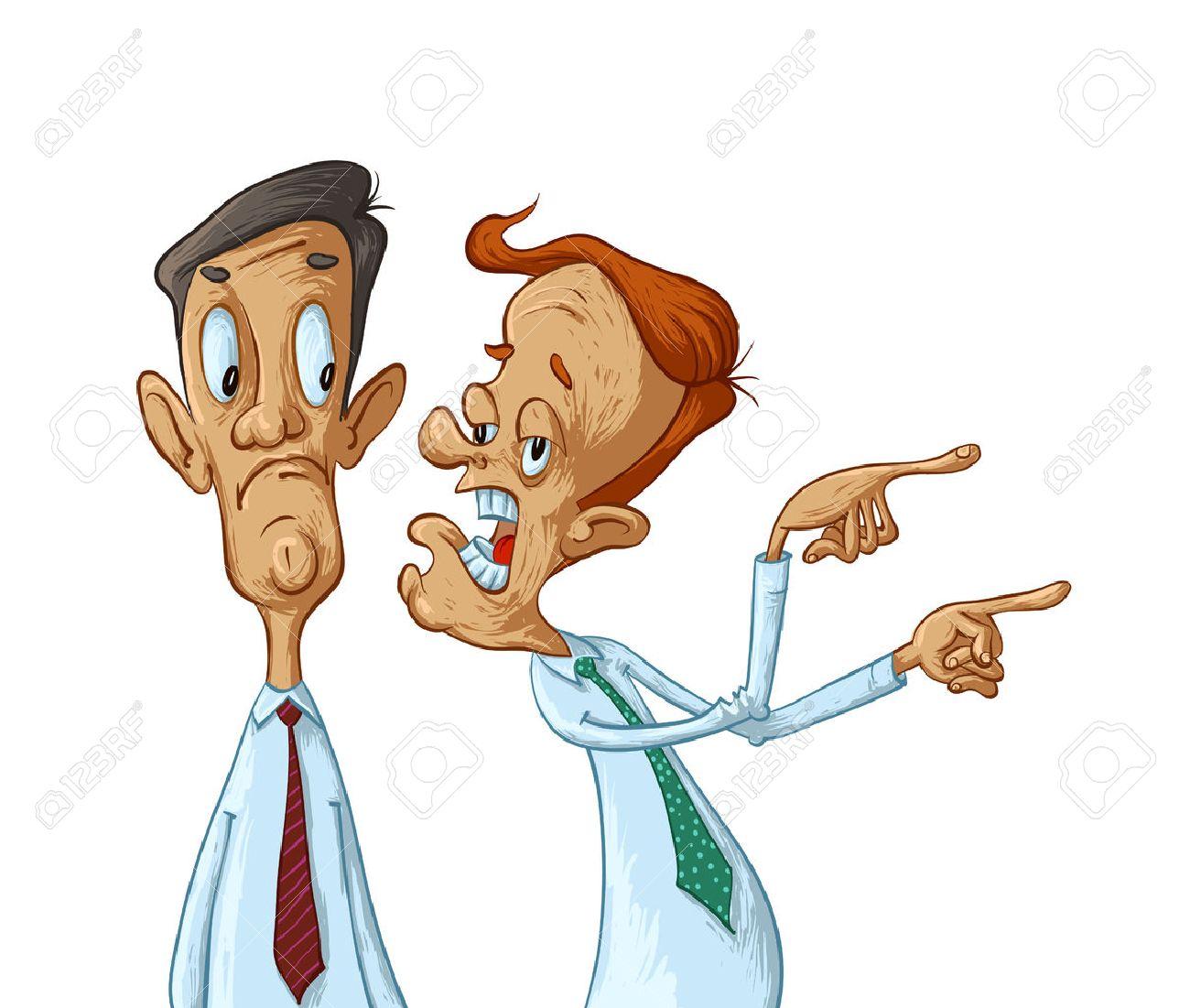 Two business men gossip, vector cartoon illustration - 67664486