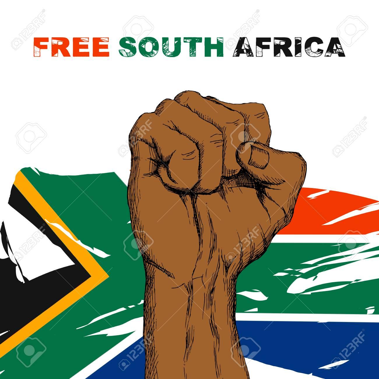 African Sketch Art Flag