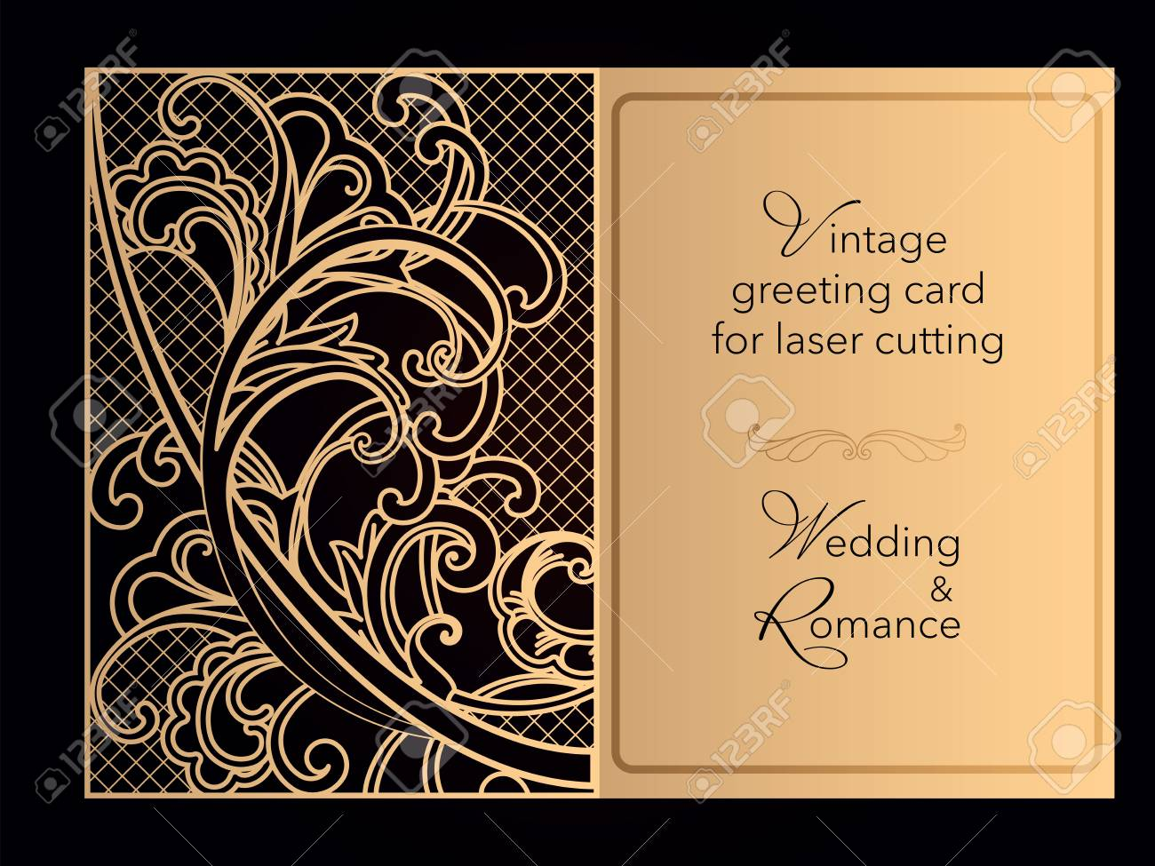 Laser Cutting Openwork Template Wedding Invitation Greeting