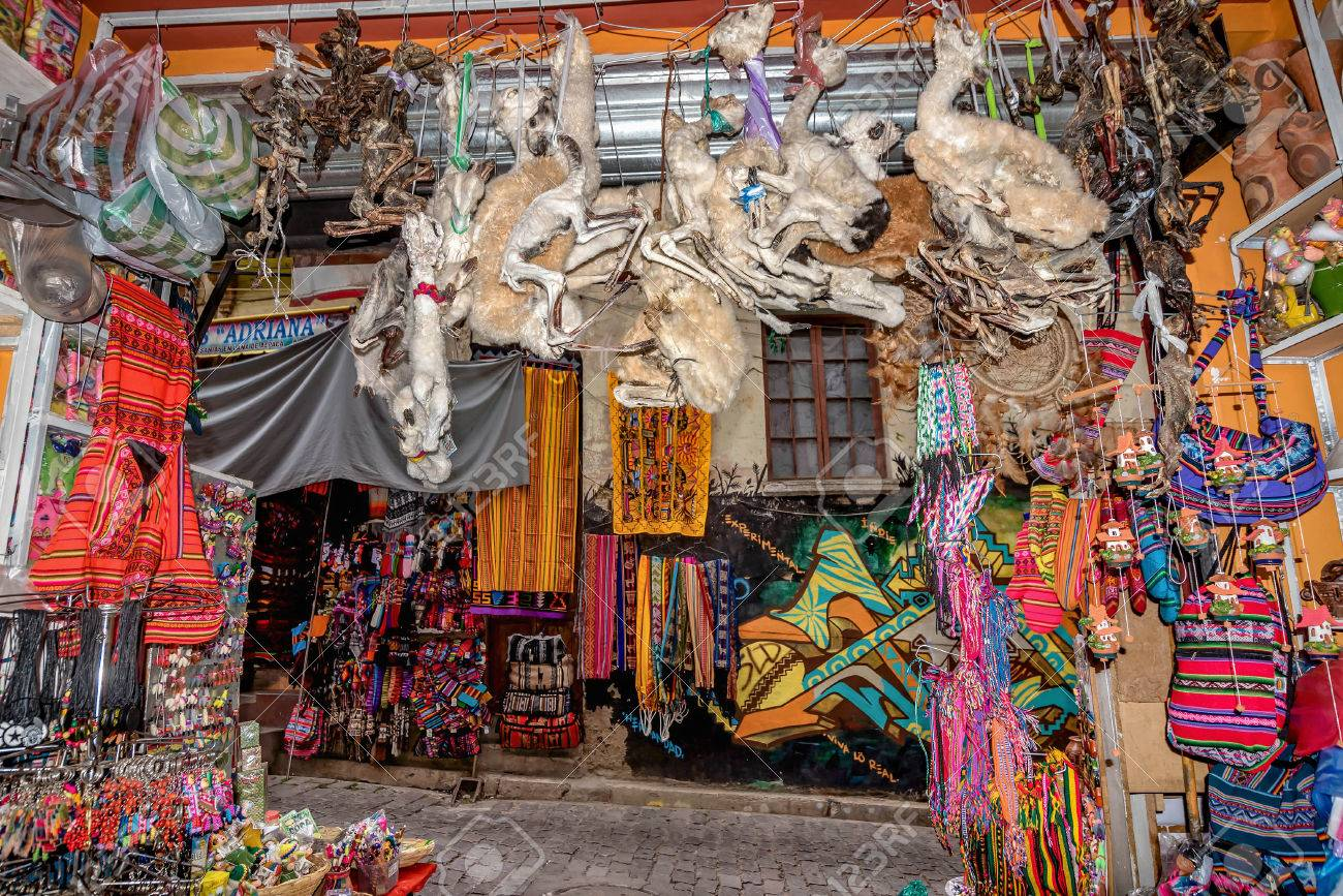 Witches Market In La Paz Bolivia Stock Photo Picture And Royalty Free Image Image 83879617