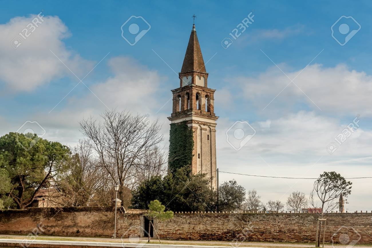 Church Of San Martino Vescovo Burano Island Near Venice Italy Stock Photo Picture And Royalty Free Image Image 116956463