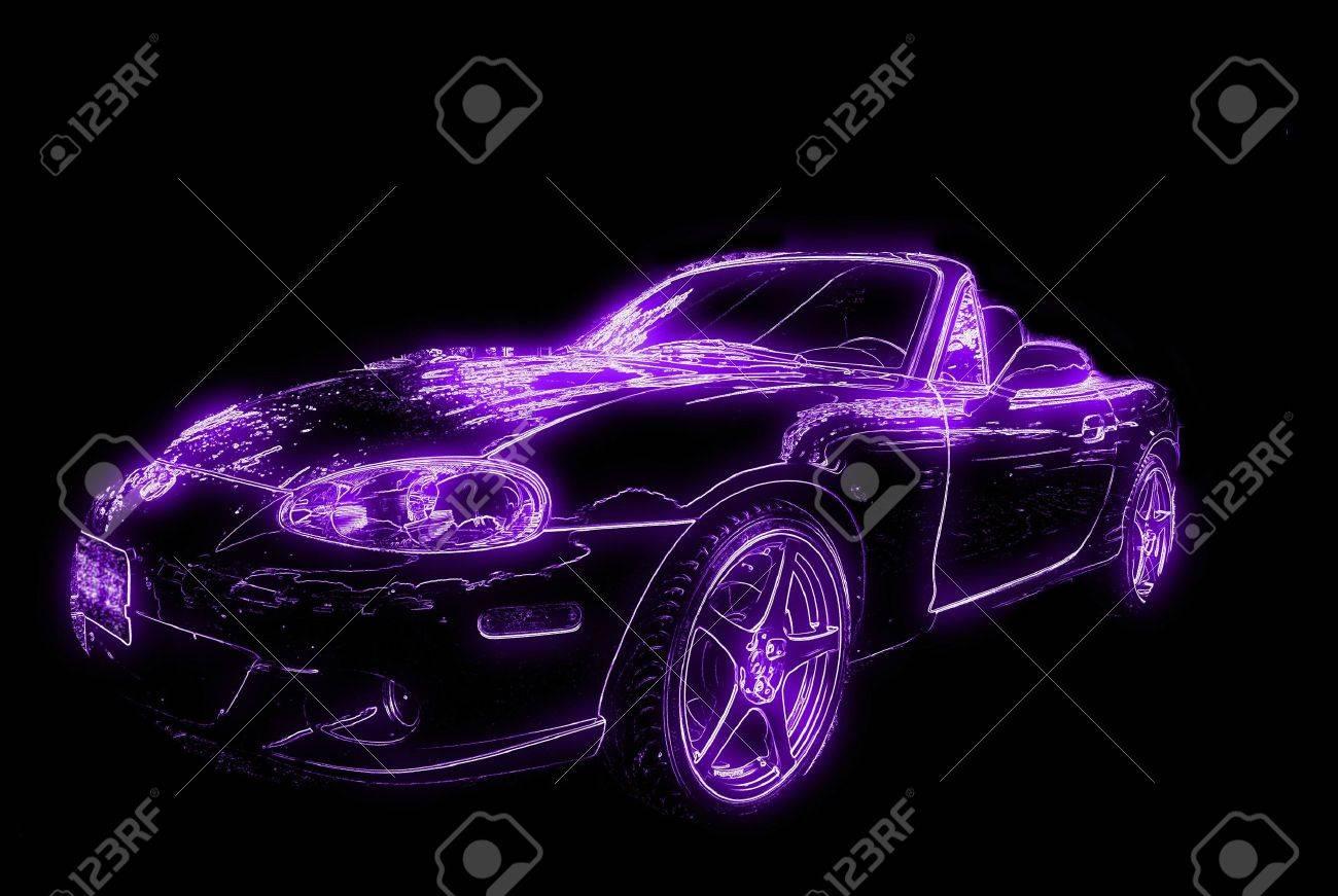 Neon Auto Gluhen Lizenzfreie Fotos Bilder Und Stock Fotografie