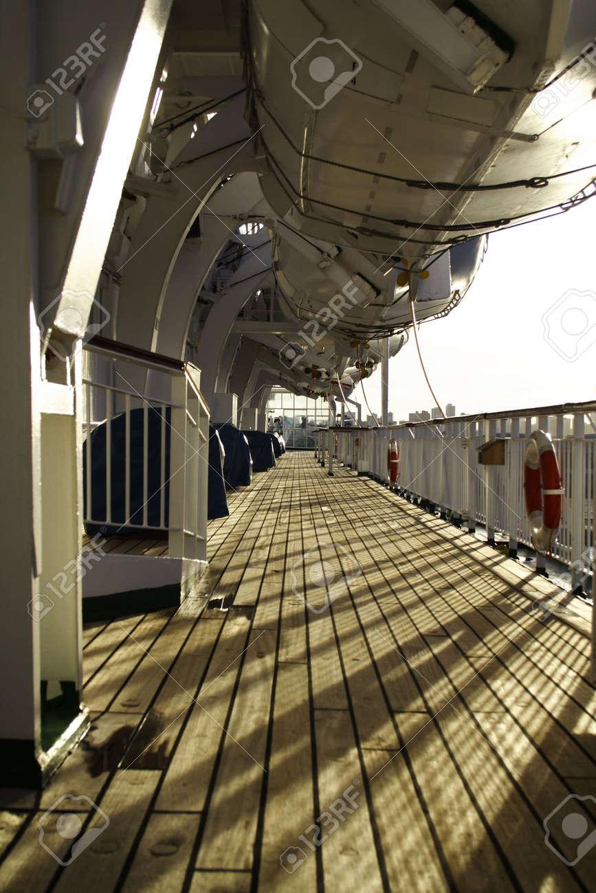 Cruise ship deck exterior. Stock Photo - 2789452