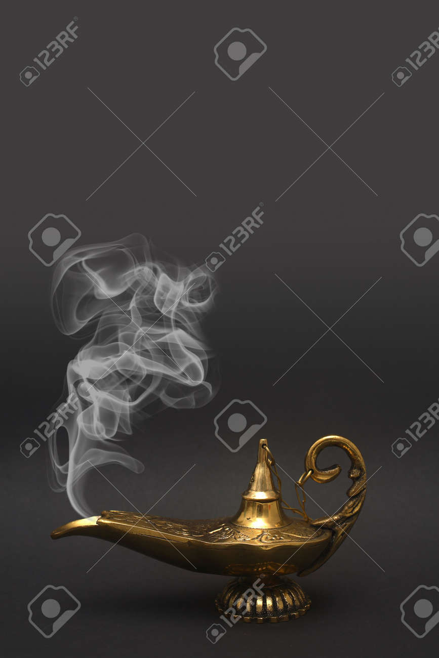 A magical genie lamp with smoke. Stock Photo - 2942741