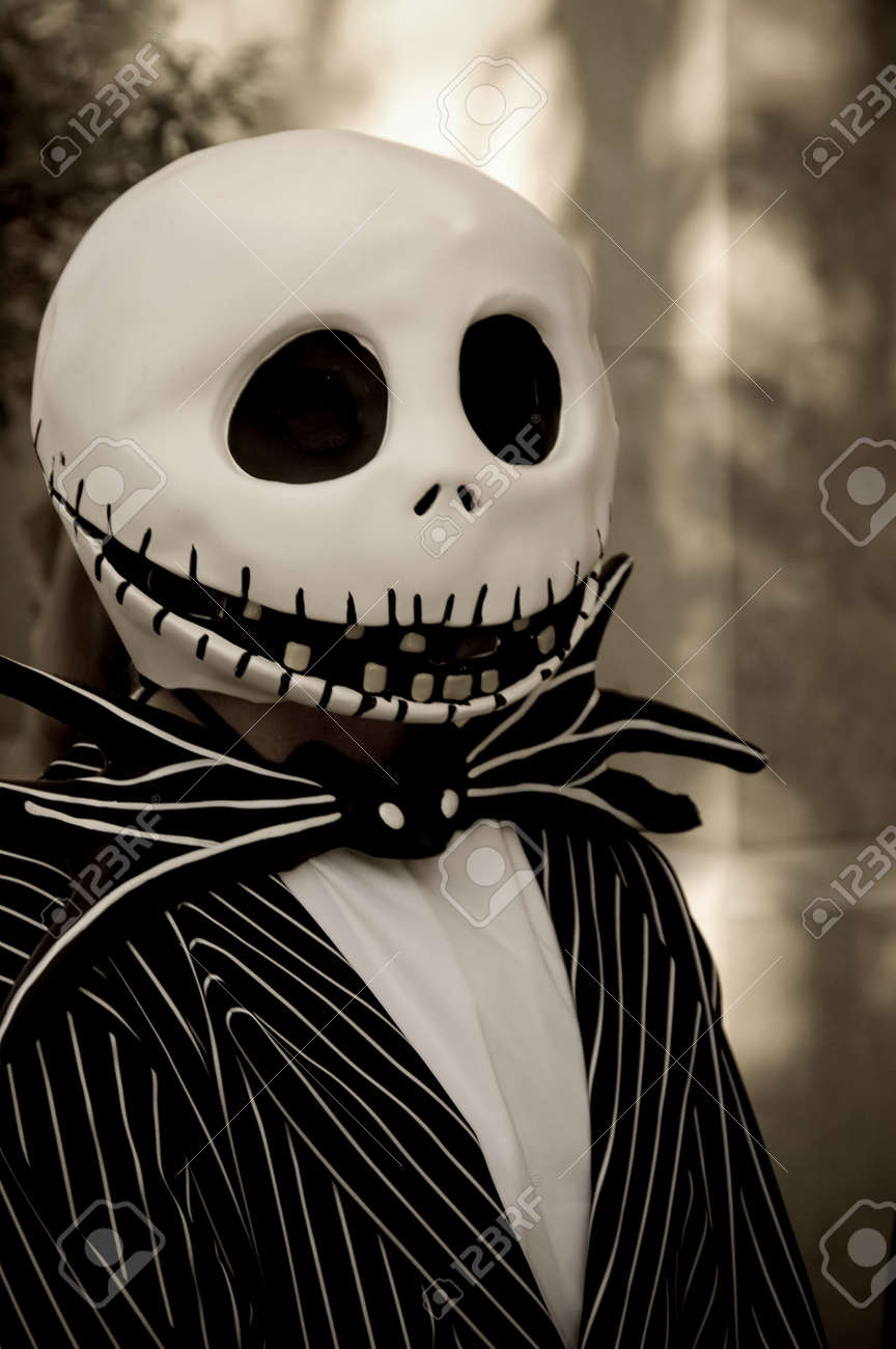A person wearing a black and white halloween costume. Stock Photo - 2024289