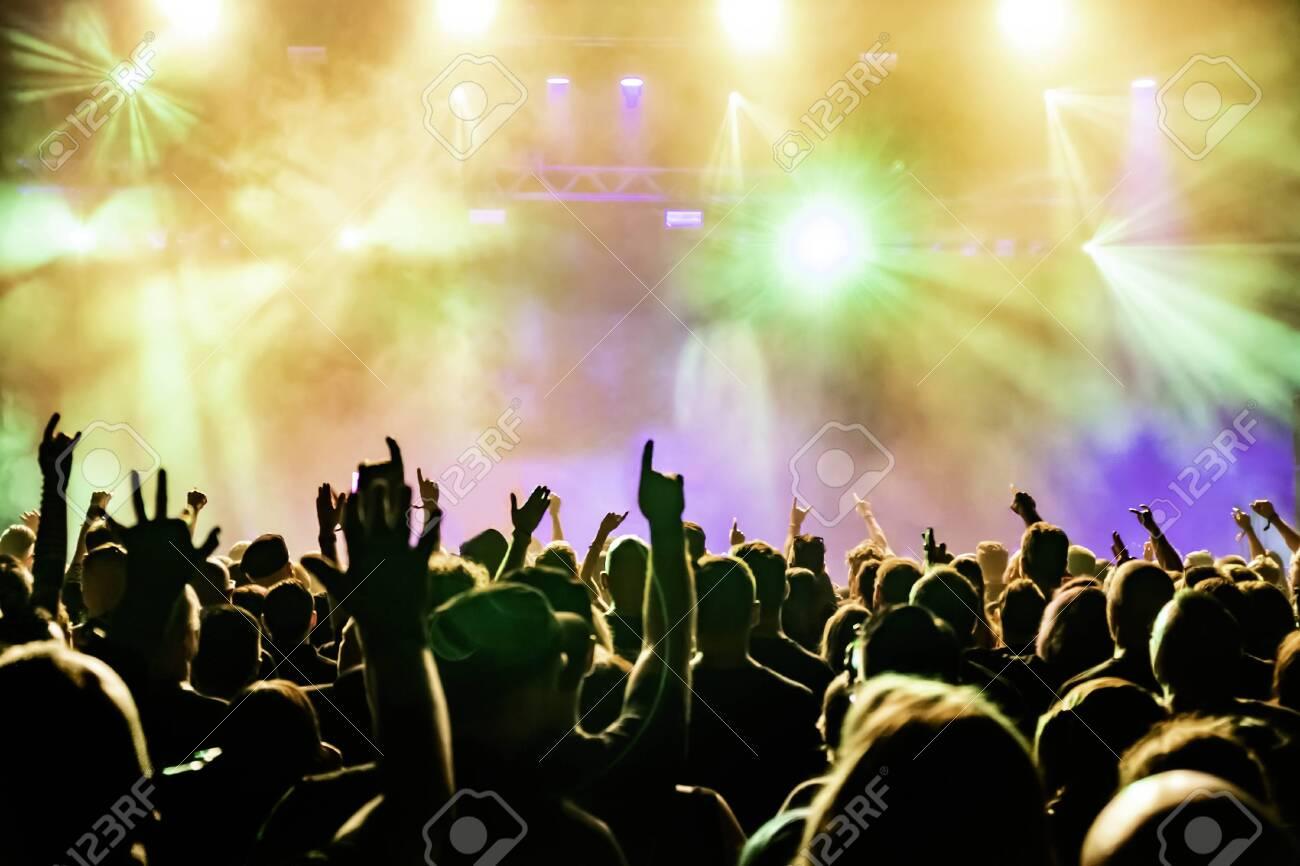 Concert crowd at rock concert - 149357812
