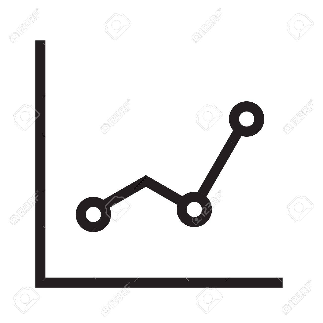 line, graph, chart, statistics icon vector image. can also be