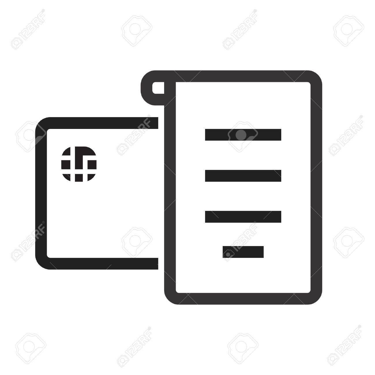 Quittung, Rechnung, Rechnung Symbol Vektor-Bild. Kann Auch Für E ...