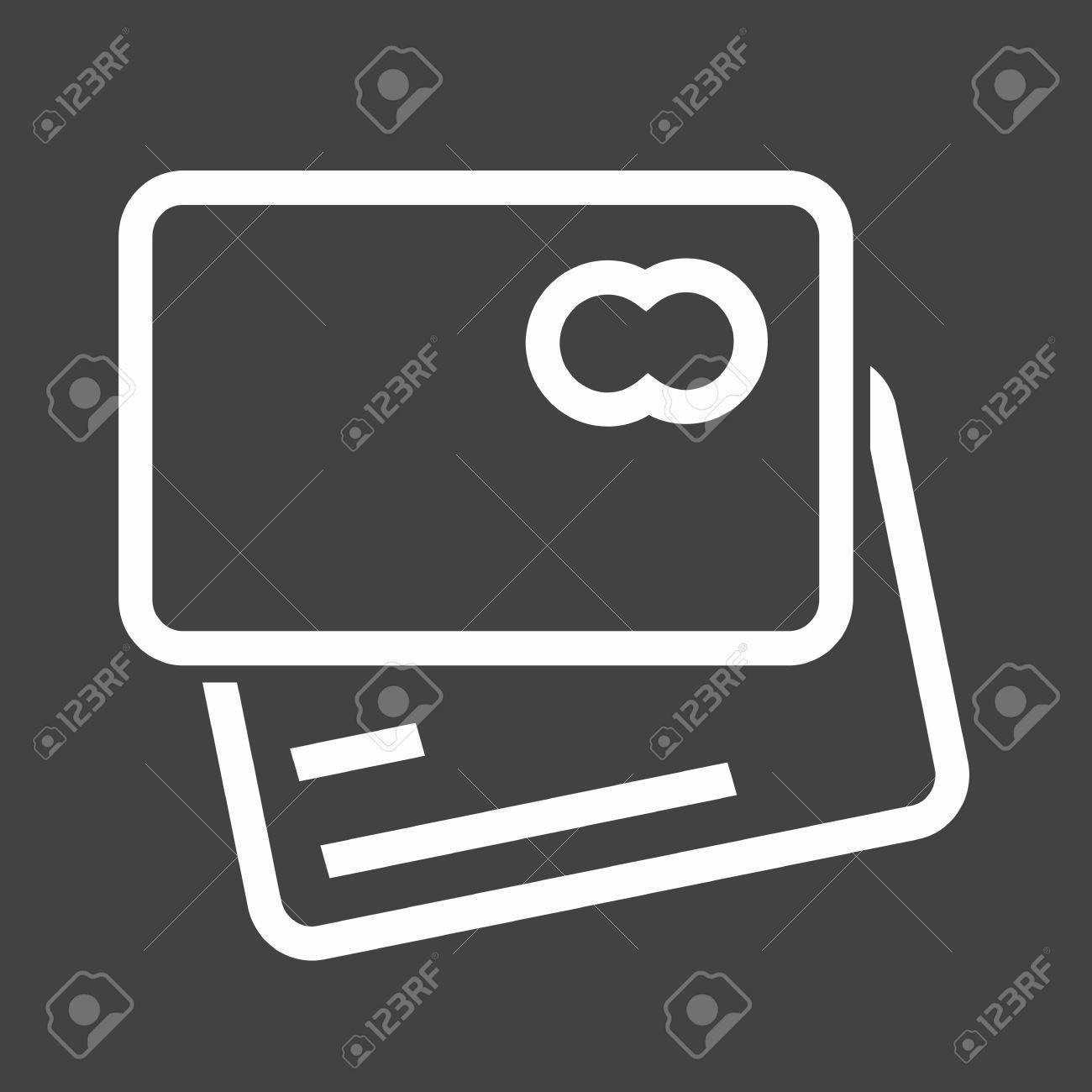 Card Credit Debit Card Visa Card Icon Vector Image Can Also