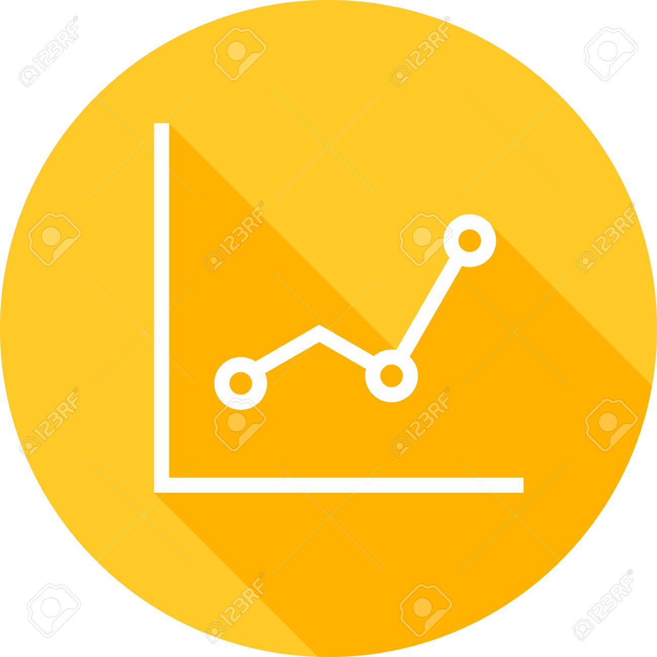 line, graph, chart, statistics icon image. royalty free cliparts