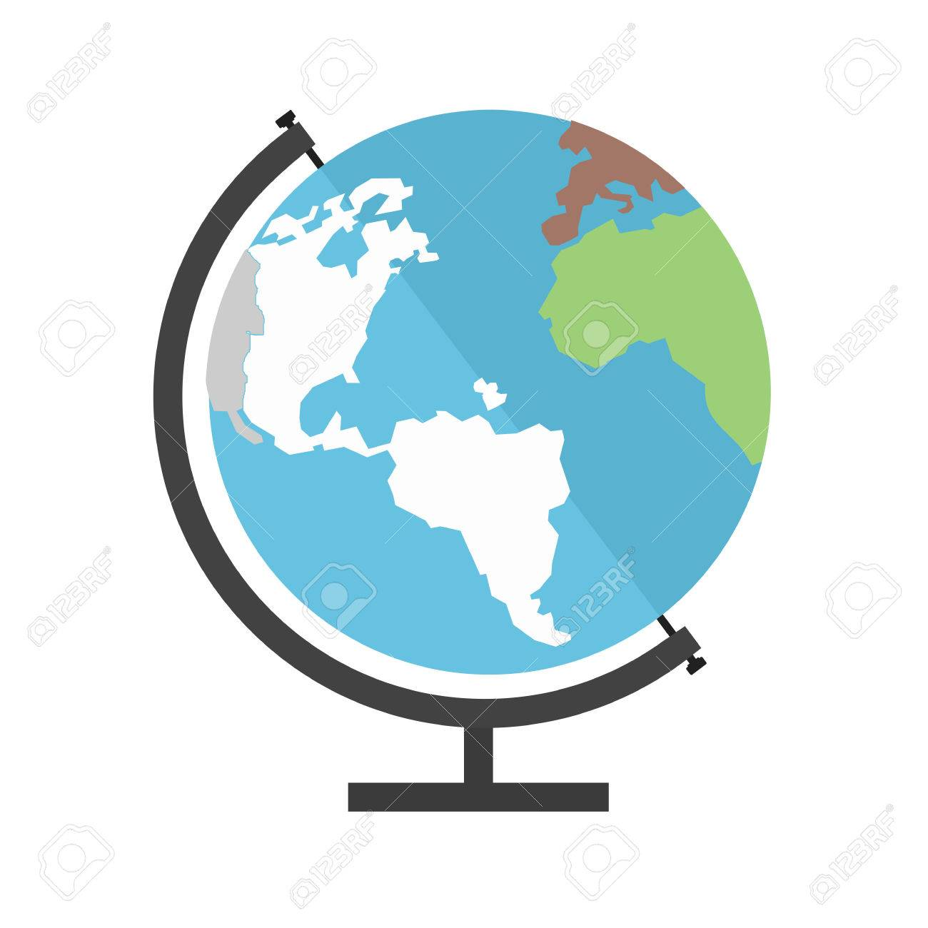 Vector globe map awesome graphic library globe earth world map icon image royalty free cliparts vectors rh 123rf com vector world map globe vector globe map gumiabroncs Image collections