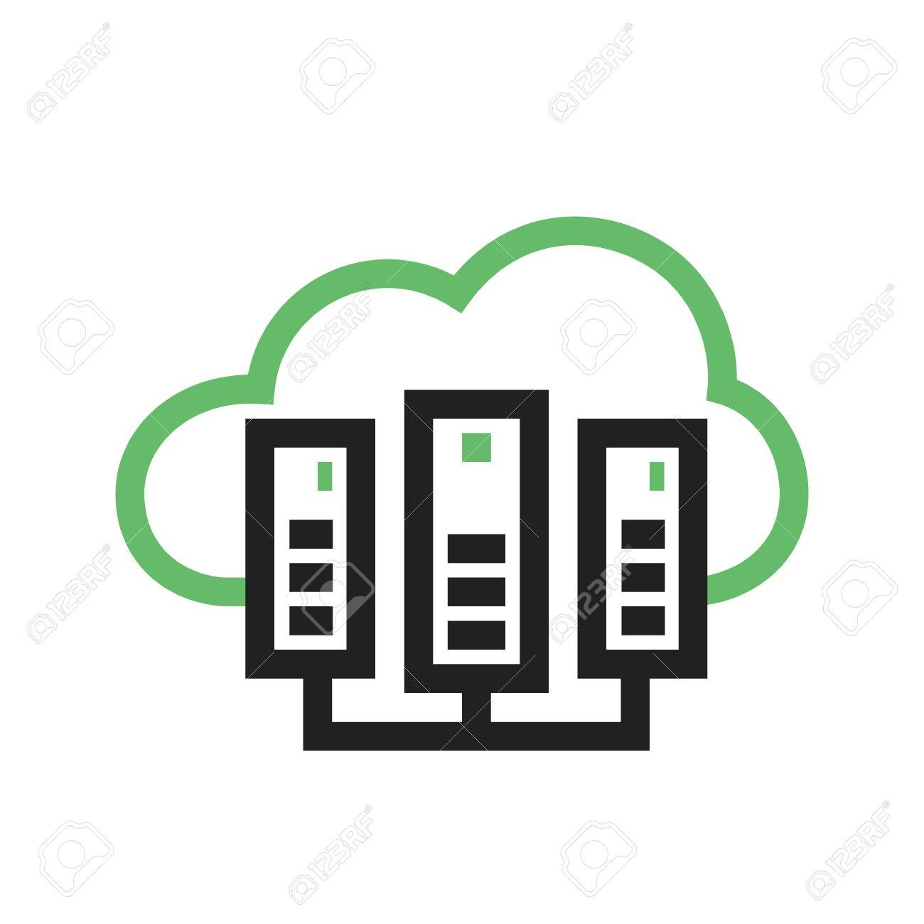 cloud computing server icon image royalty free cliparts vectors