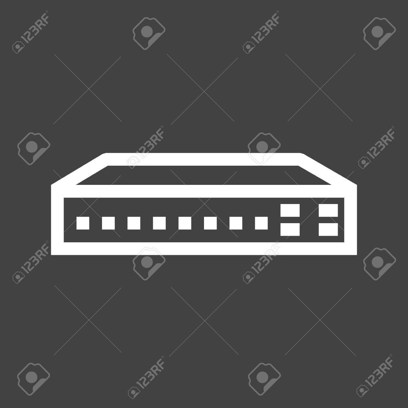 Lan Switch Icon