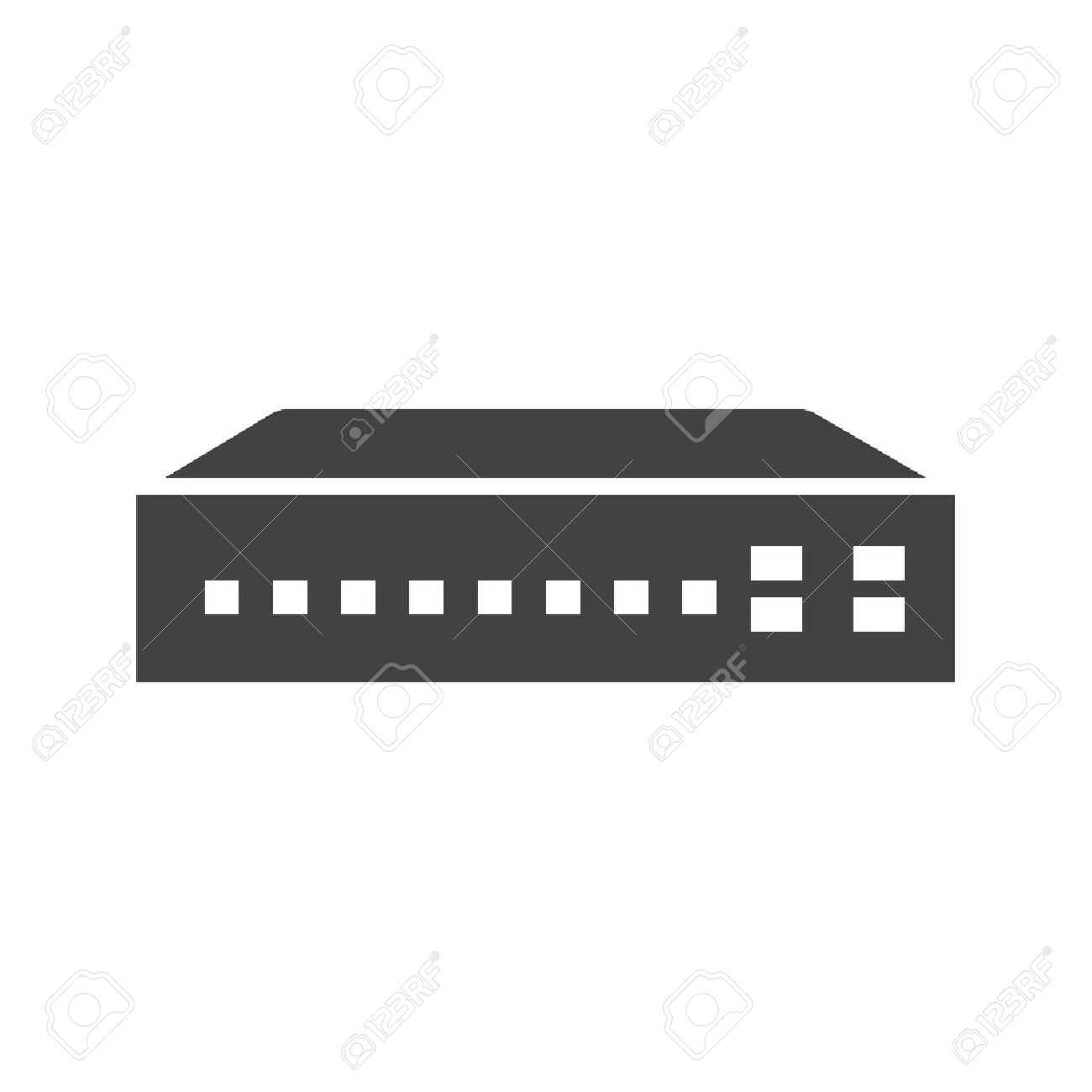 Networking switch, network, router icon vector image  Can also