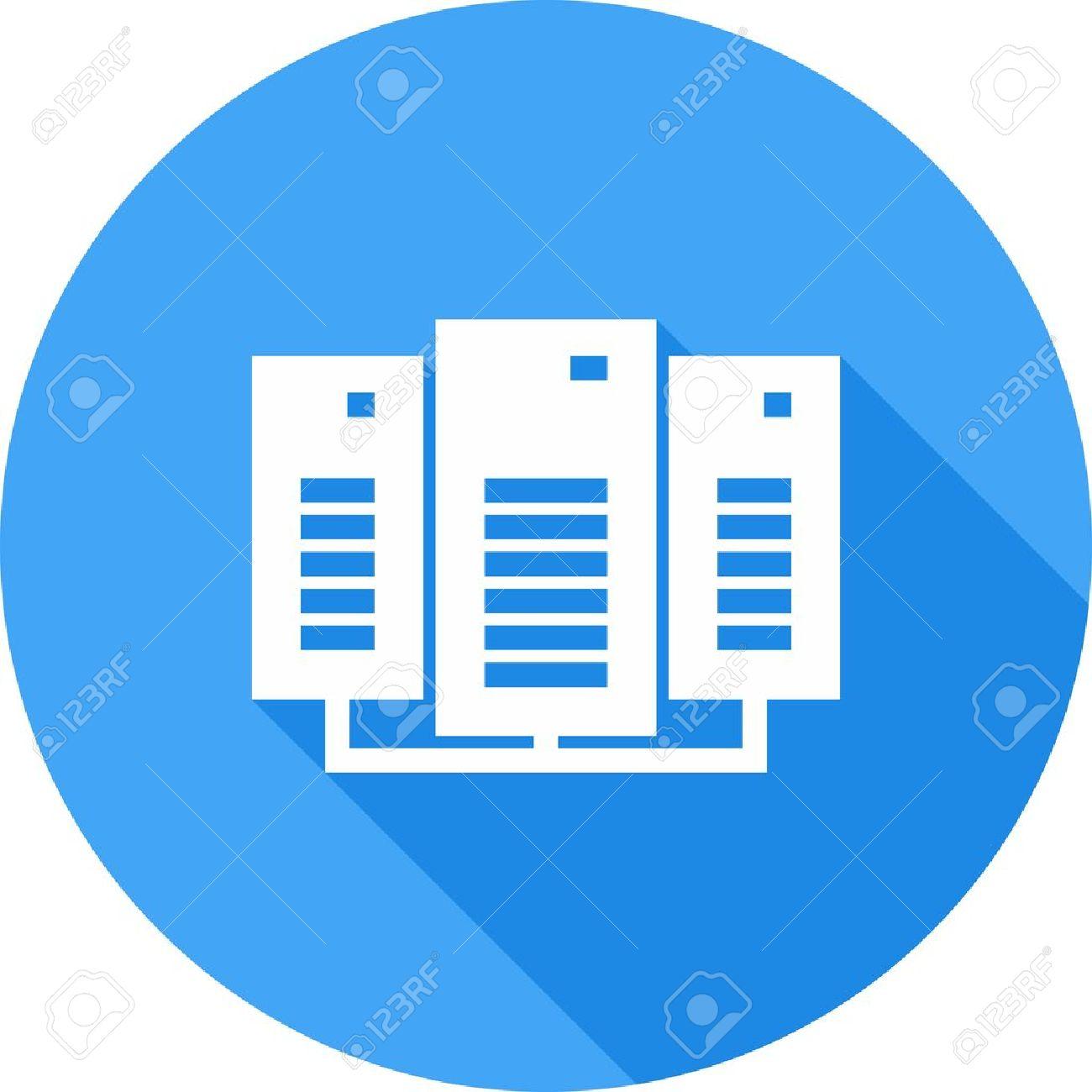 Daten-Center, Netzwerk, Server-Symbol Vektor-Bild. Kann Auch Für Die ...