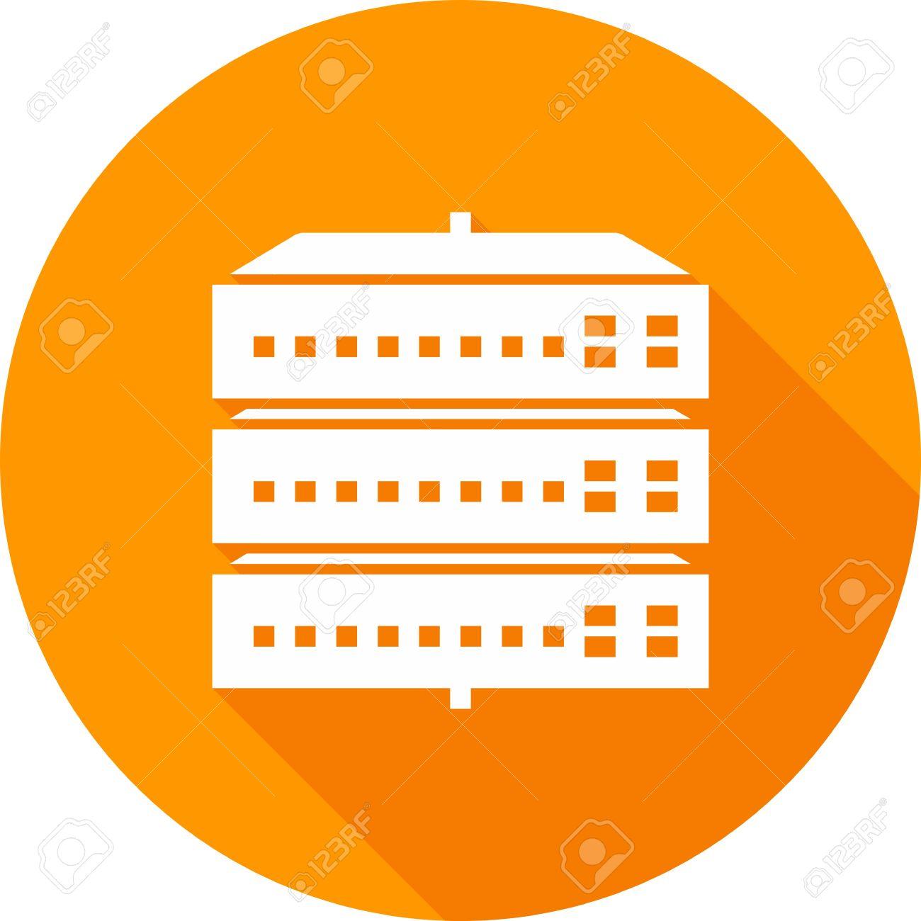 Netzwerk-Switch, Server, Switch, Port Bild Symbol Vektor. Kann Auch ...