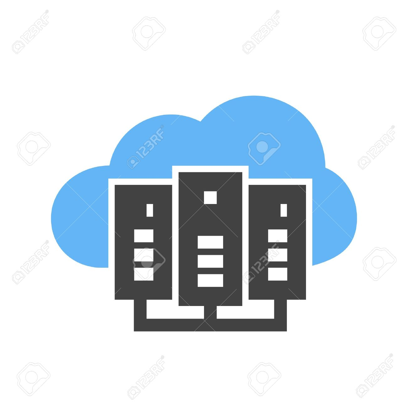cloud computing server icon vector image can also be used