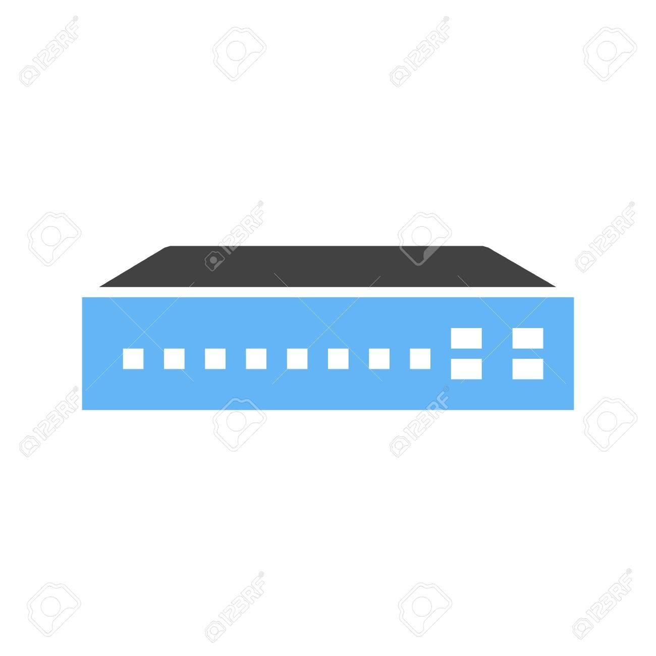 Schalter, Netzwerk, Router-Symbol Bild Vektor-Vernetzung. Kann Auch ...