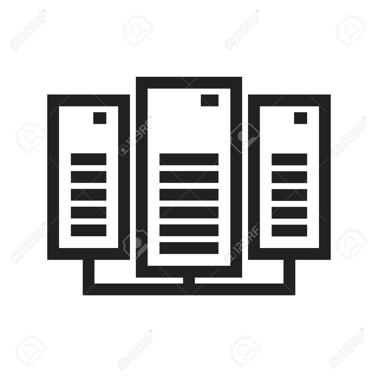 Data, center, network, server icon vector image  Can also be