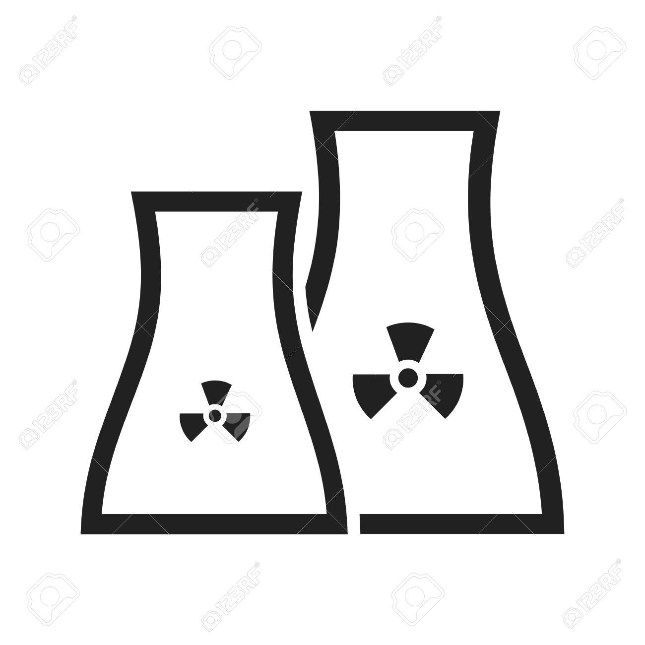 Nuclear, Power, Plant Icon Vector Image. Can Also Be Used For ...