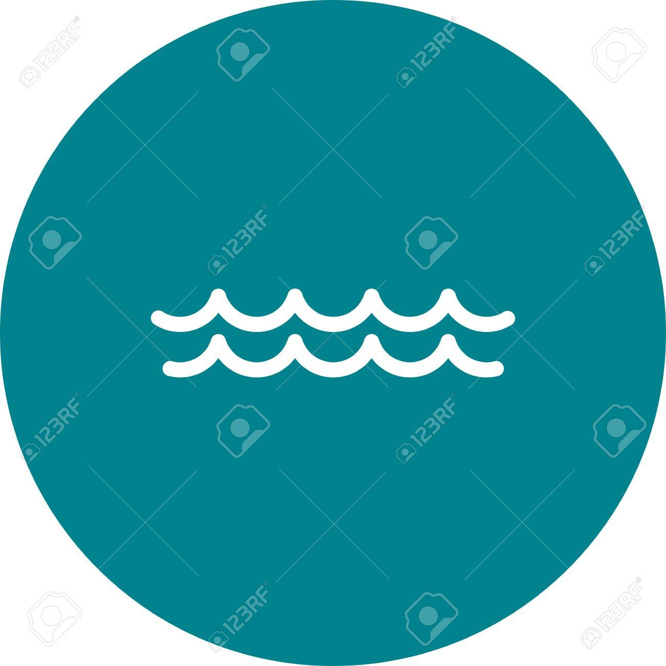 Water, Ocean, Swimming Pool Icon Vector Image. Can Also Be Used ...
