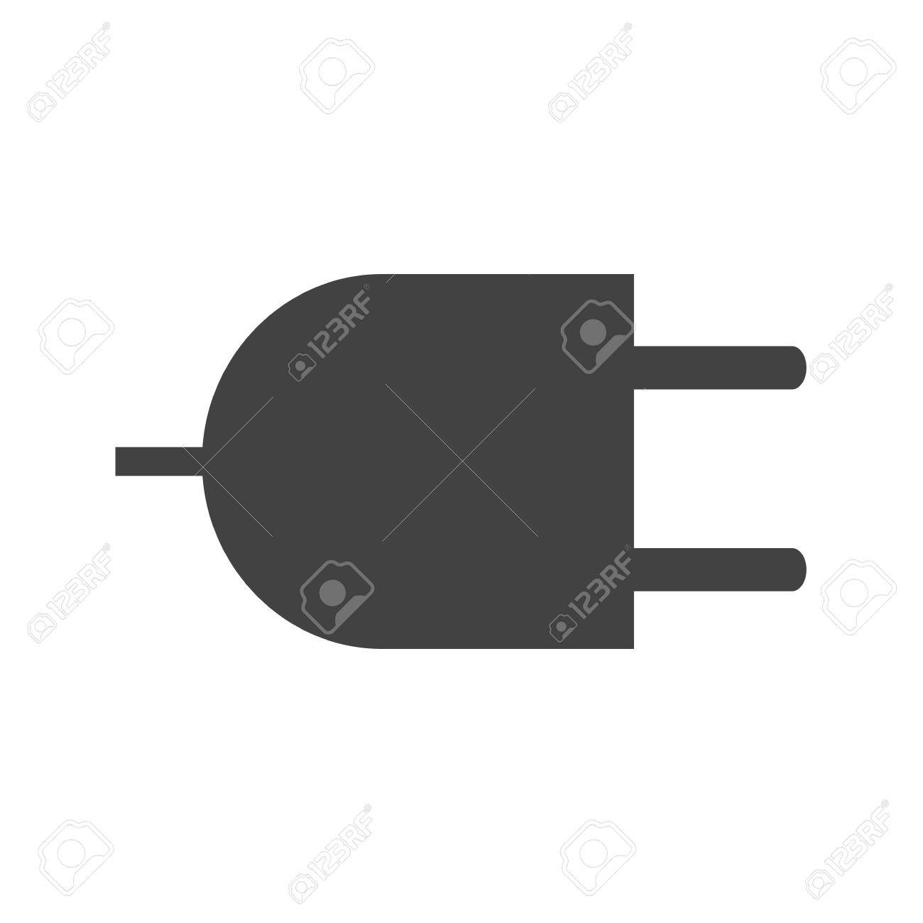 Plug, Wire, Two Pin Socket Icon Vector Image. Can Also Be Used ...