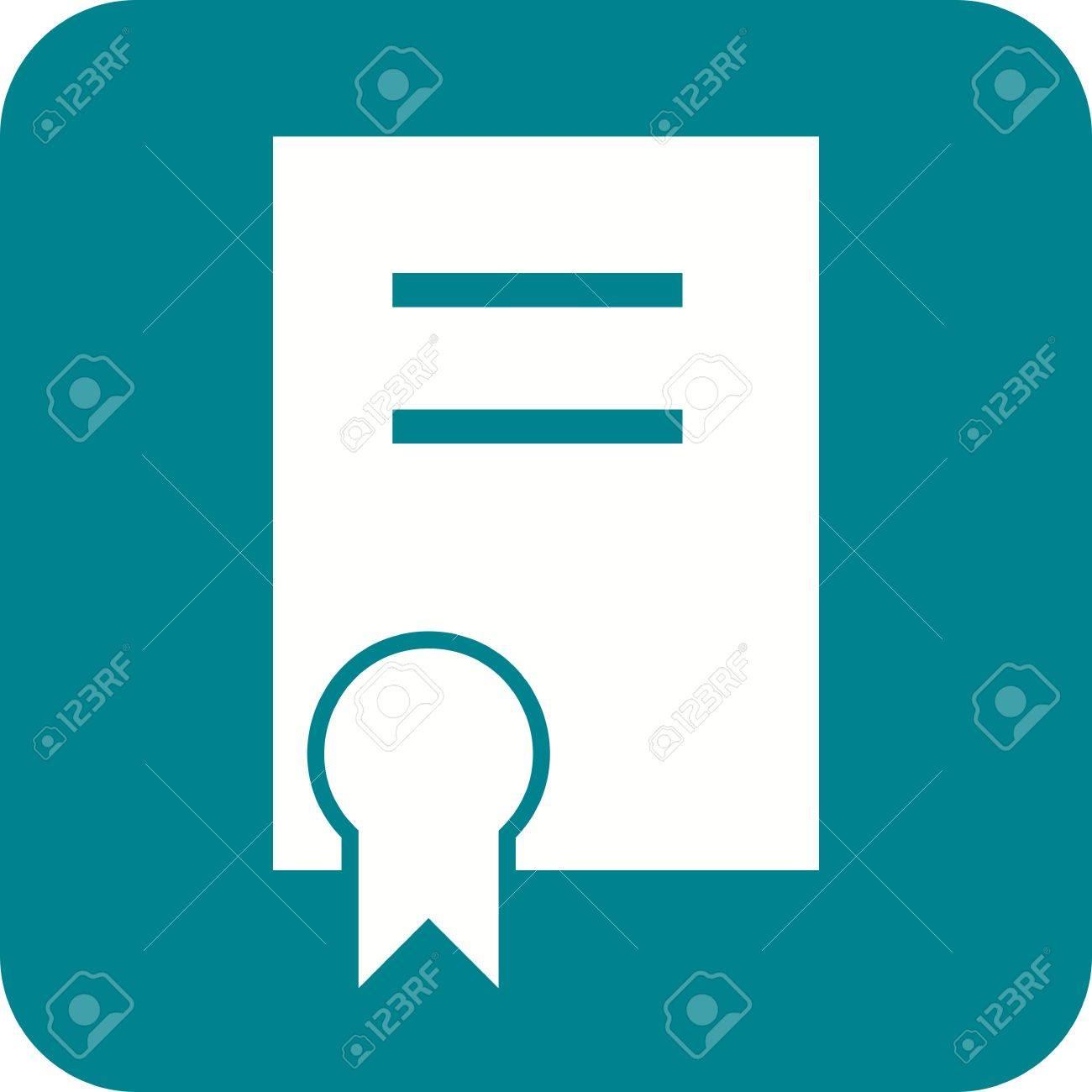 certificate degree diploma achievement icon vector image rh 123rf com vector certificate borders vector certificate template