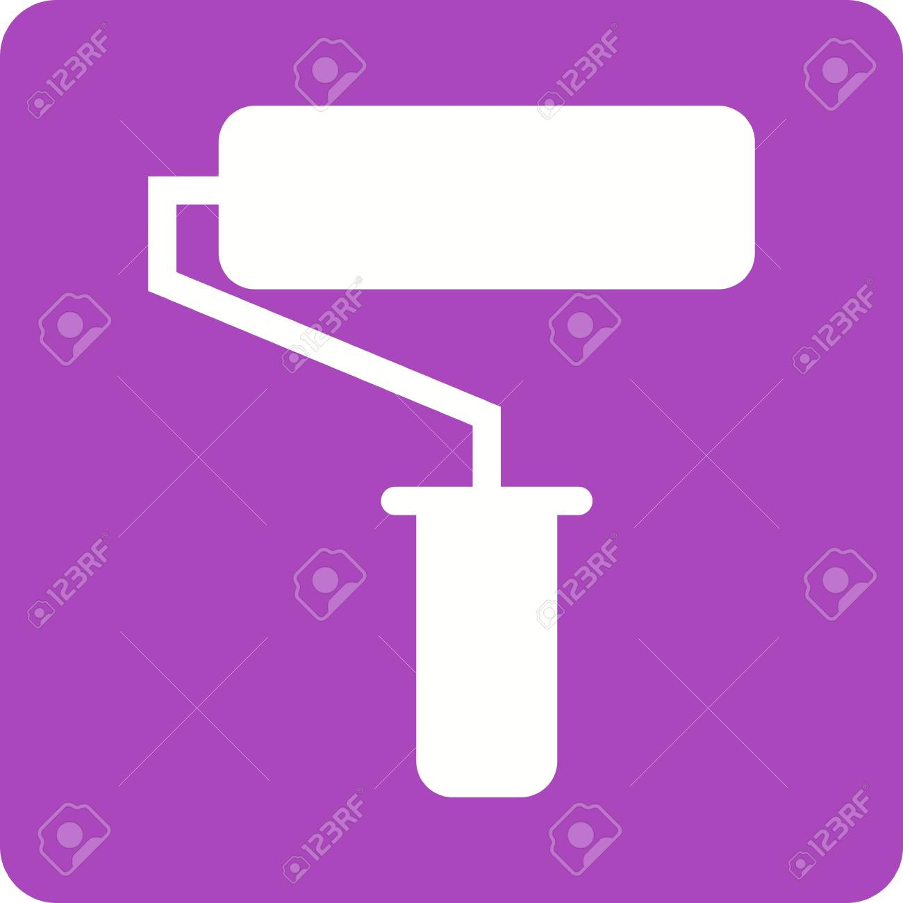 Paint, roller, painting icon vector image  Can also be used for