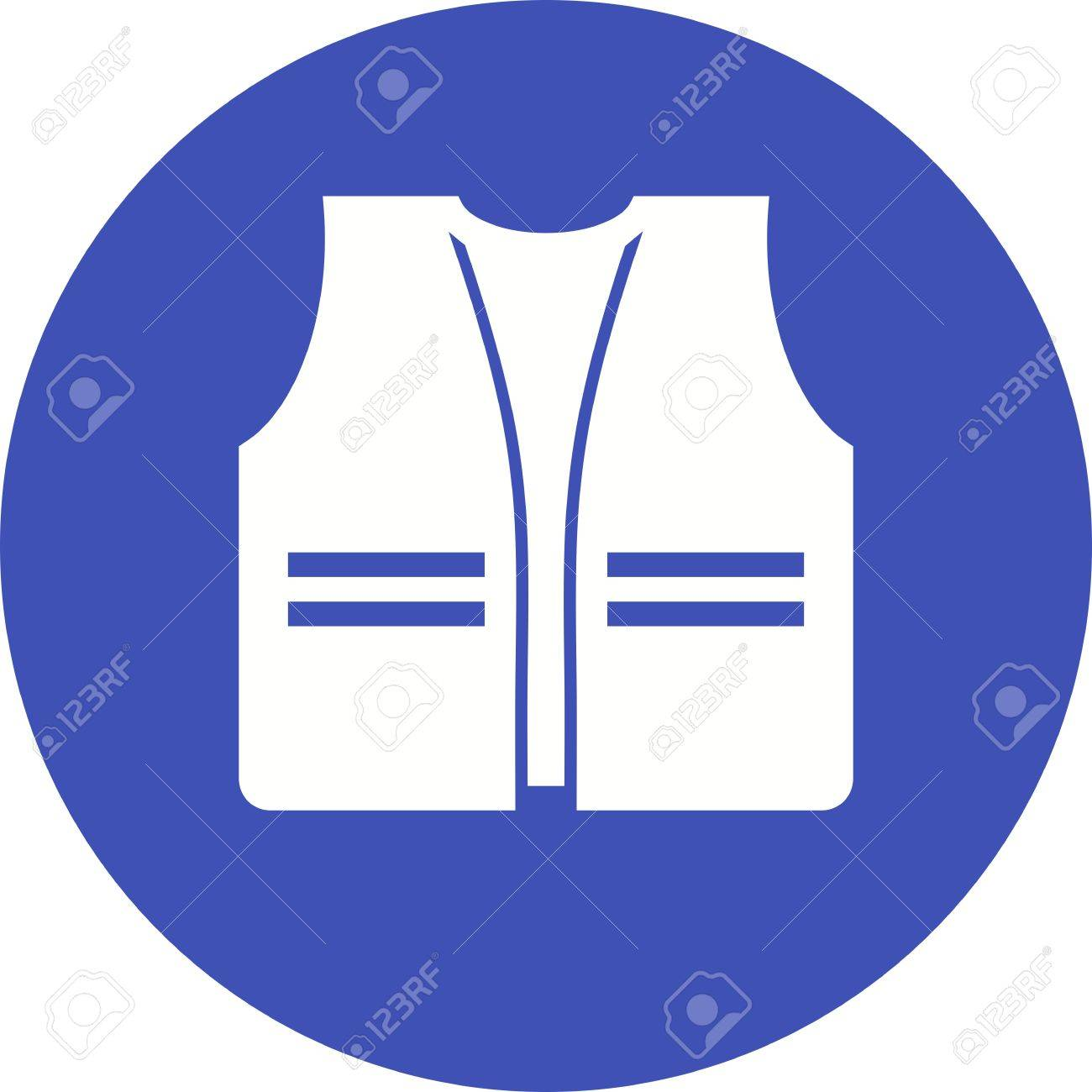 Jacket Vest Safety Icon Vector Image Can Also Be Used For Construction