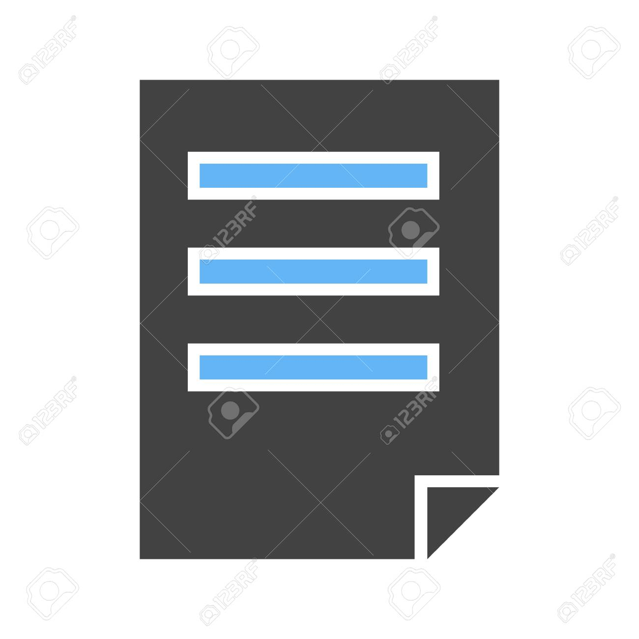 File, document, pdf icon vector image Can also be used for user