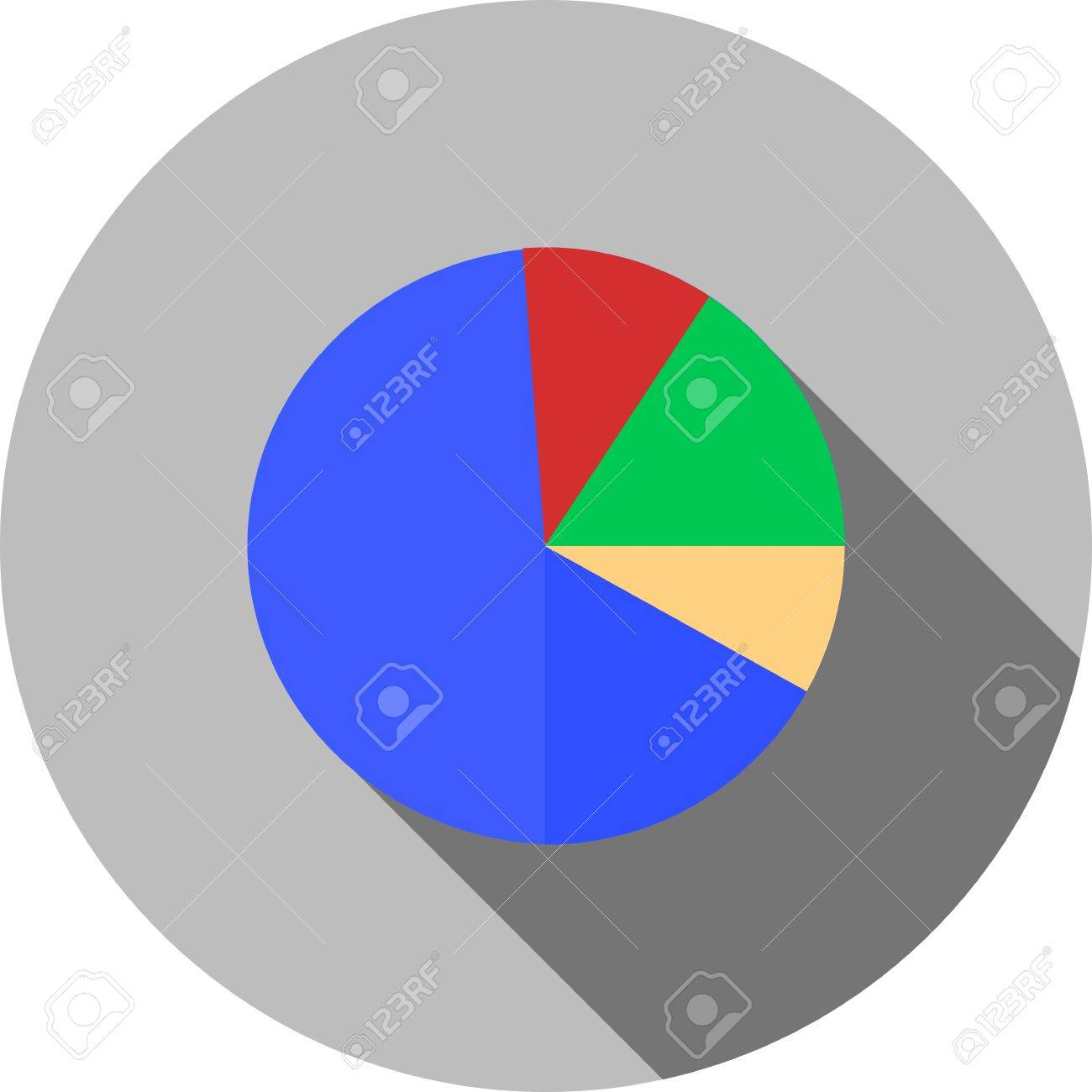 Pie Chart Statistics Data Distribution Icon Vector Image Can